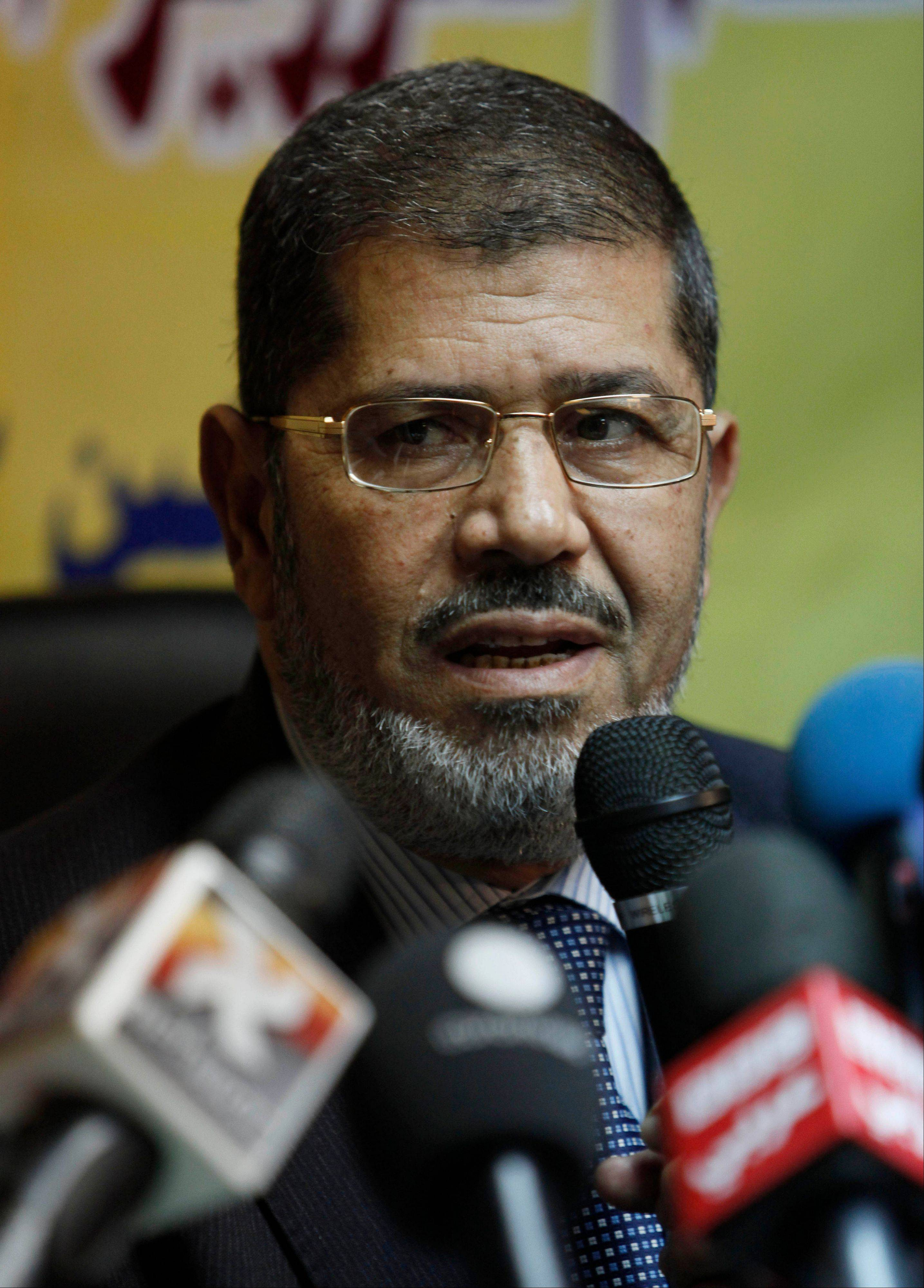 Egypt's top prosecutor has referred ousted Islamist President Mohammed Morsi to trial on charges of inciting the killing of opponents who were protesting outside his palace while he was in office.