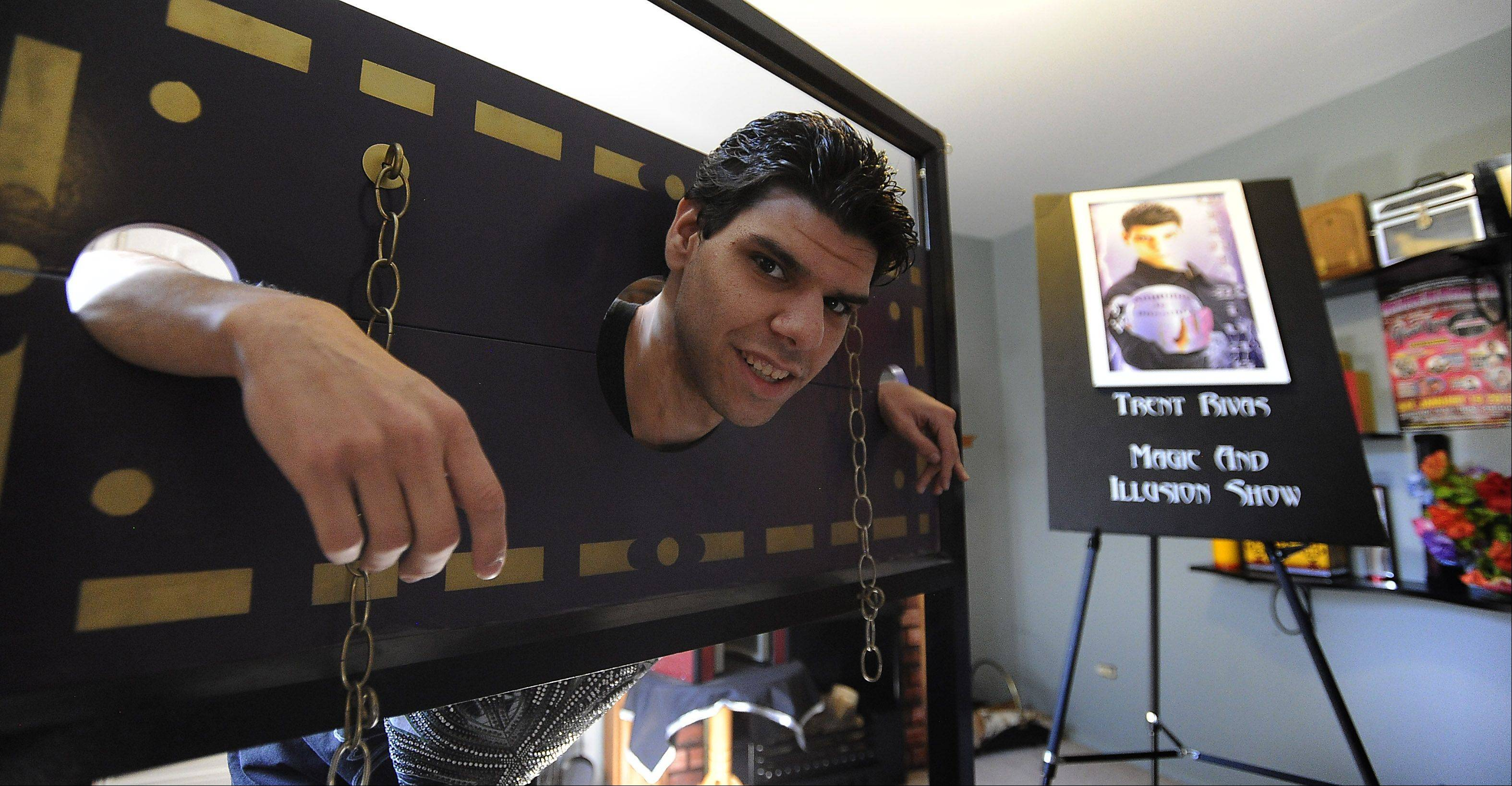 As a child, Trent Rivas often was trapped by his mental and physical disabilities. But since discovering magic and working tirelessly on learning routines such as this escape trick, the 24-year-old Des Plaines man has unlocked a new world of opportunities.