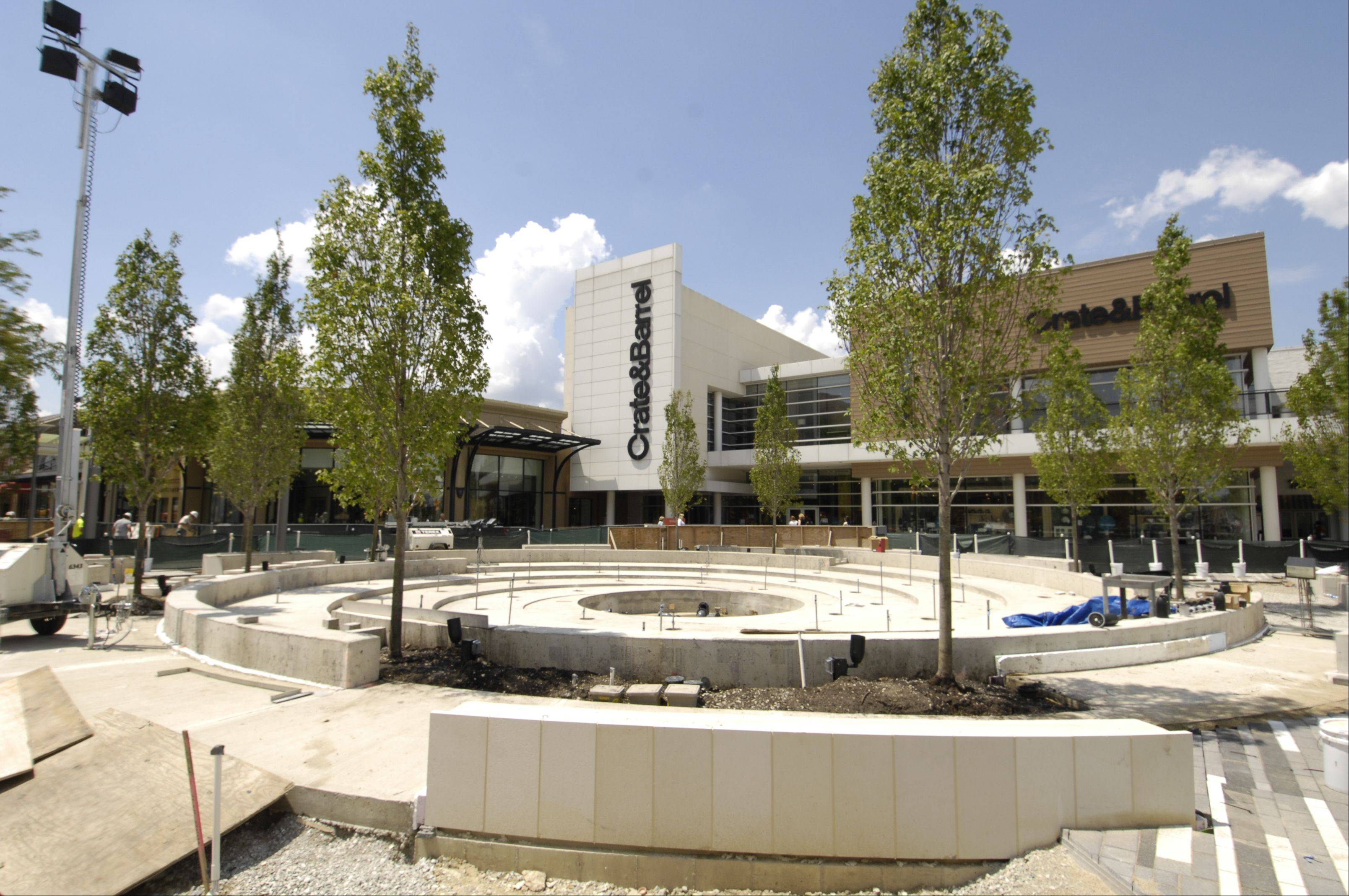 Oakbrook Center is in the midst of the largest renovation project in the outdoor mall's 51-year history. The project, expected to be completed in time for the Black Friday start to the holiday shopping season, will include a vortex fountain that will operate 365 days a year.