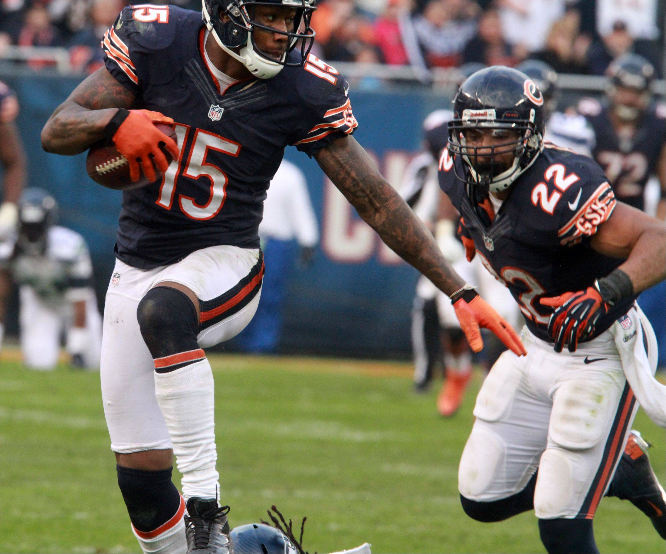 Bears' Brandon Marshall on target for opener