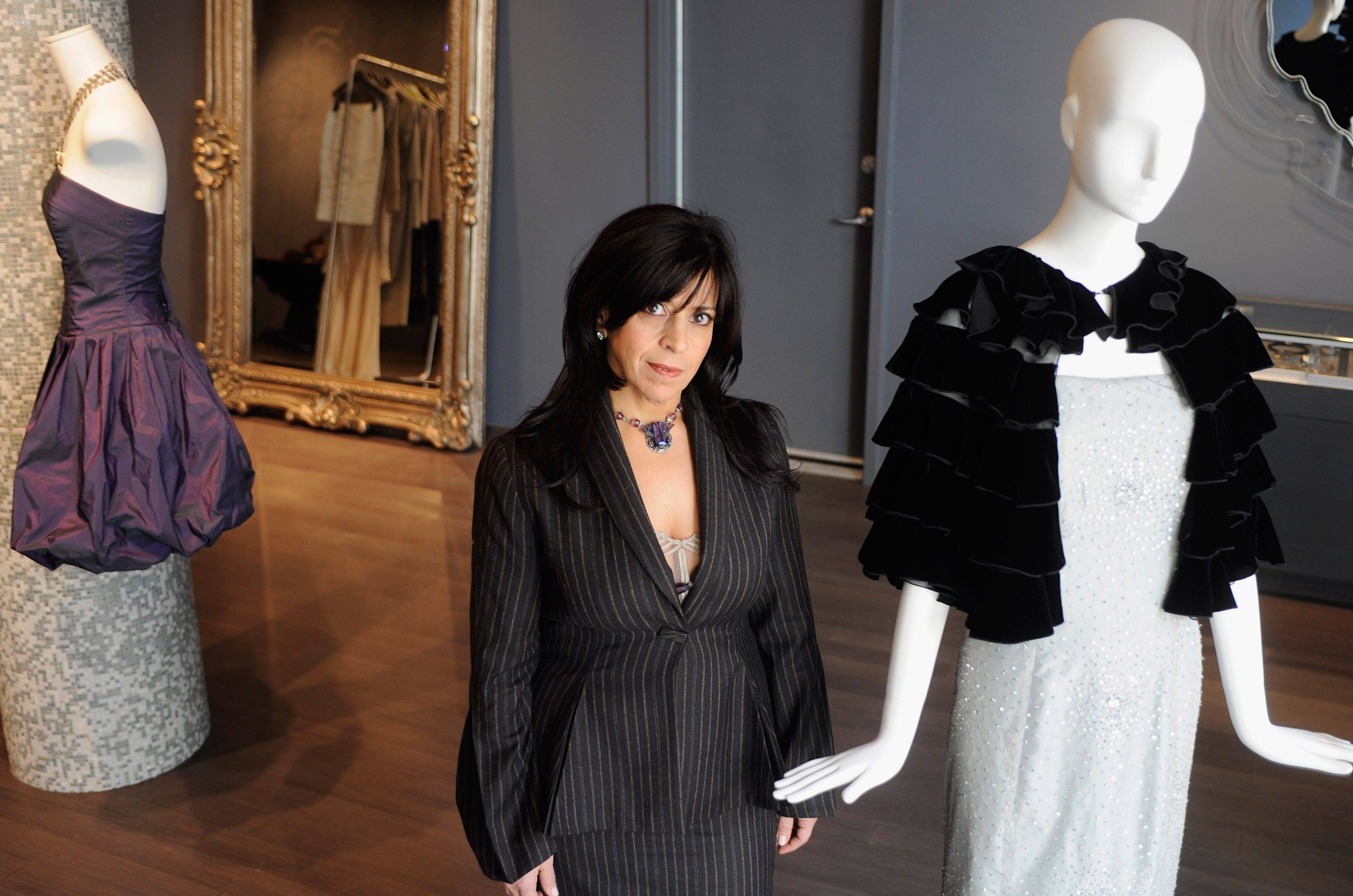 Fashion designer Maria Pinto, seen here in 2008 at her boutique in Chicago just before it closed, is launching her latest collection via Kickstarter. Pinto, one of first lady Michelle Obama's favorite designers, hopes to raise $250,000 in 45 days.