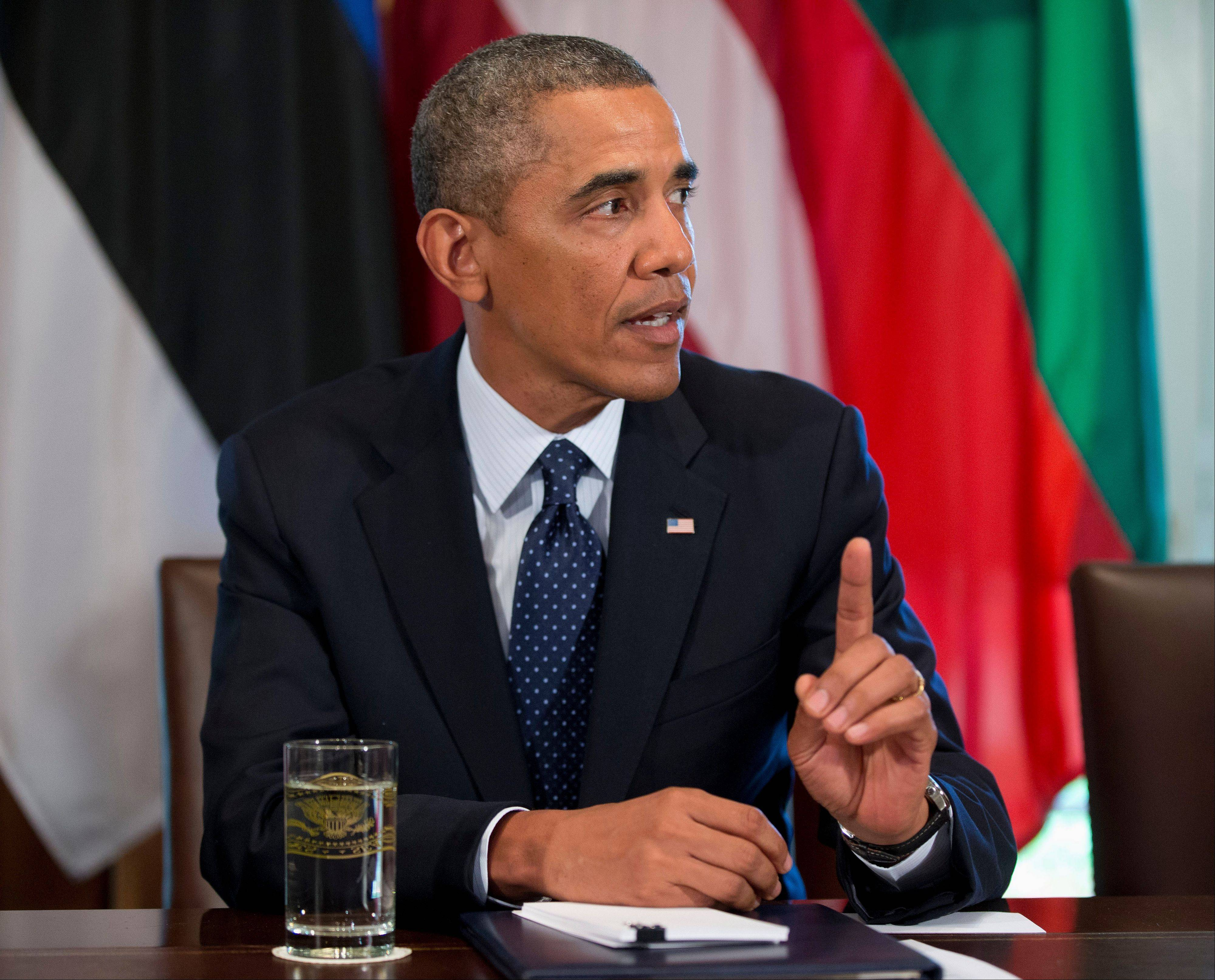 President Obama worked on Monday to persuade skeptical lawmakers to endorse a U.S. military intervention in civil war-wracked Syria, winning conditional support from two leading Senate foreign policy hawks even as he encountered resistance from members of his own party after two days of a determined push to sell the plan.