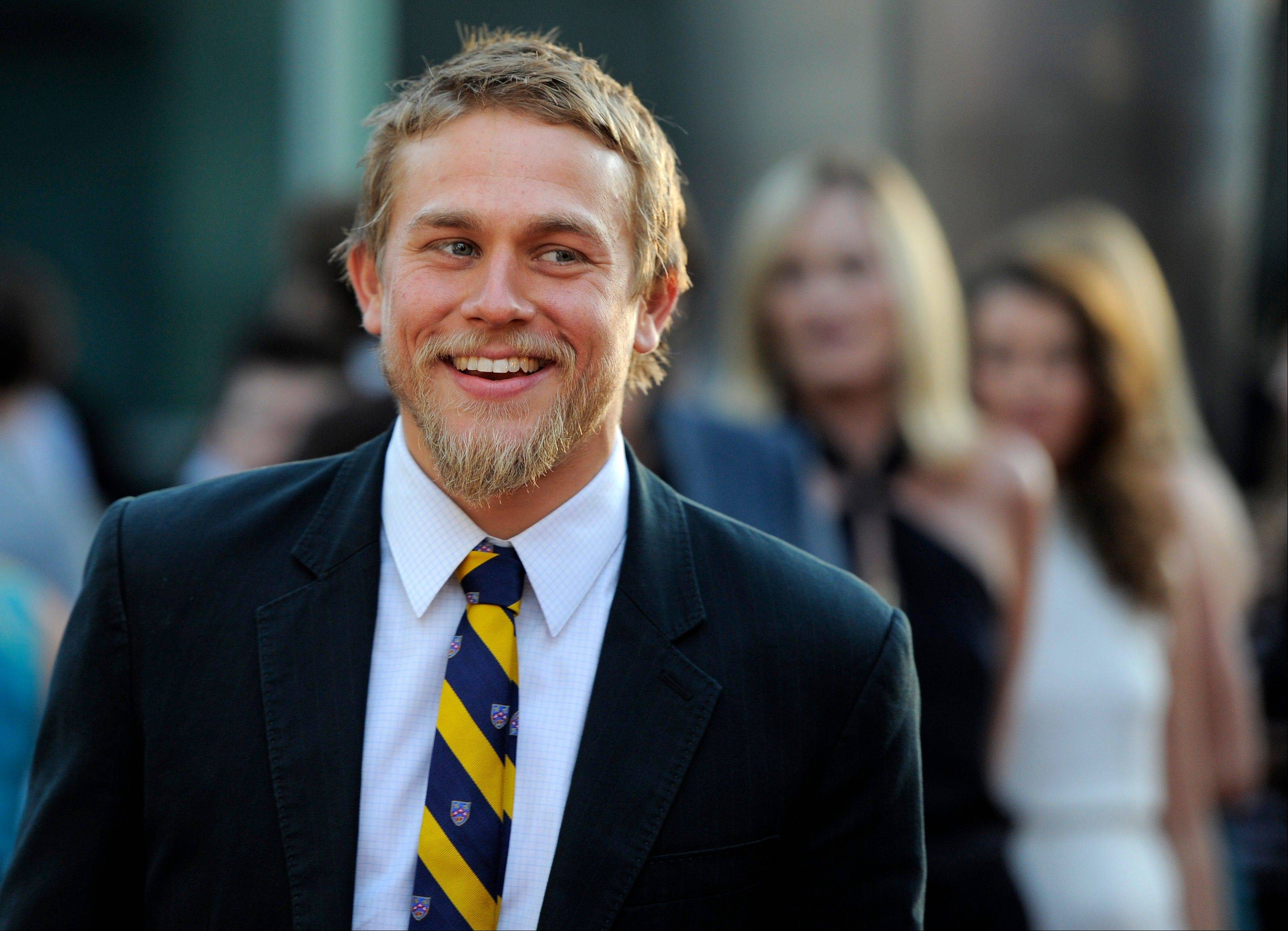 """Sons of Anarchy"" star Charlie Hunnam will play Christian Grey in the movie adaptation of E L James' ""Fifty Shades of Grey."""