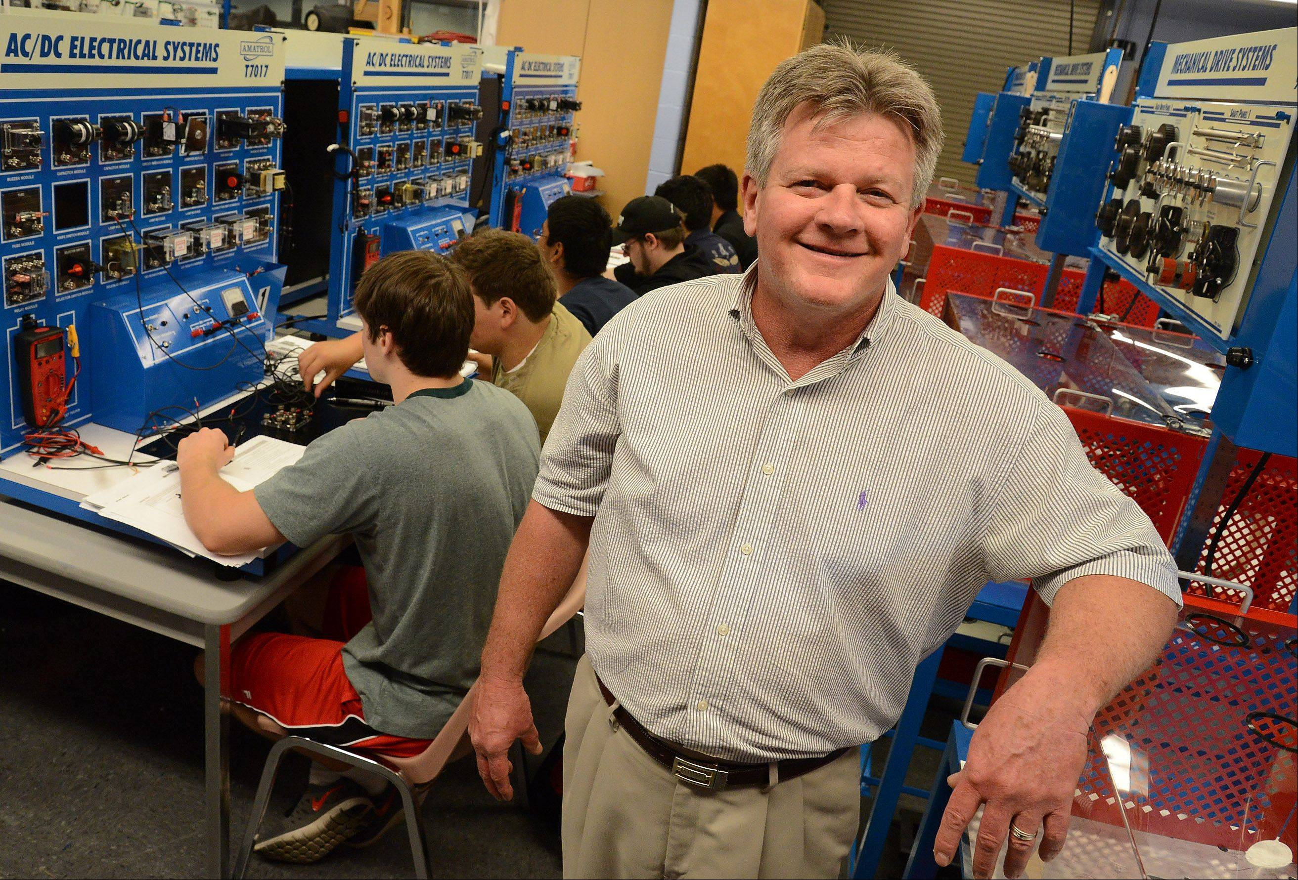 Mechatronics is a new manufacturing-based curriculum at College of Lake County. Dean Emeritus Gary Morgan explains the new field combining mechanics, electronics and software.