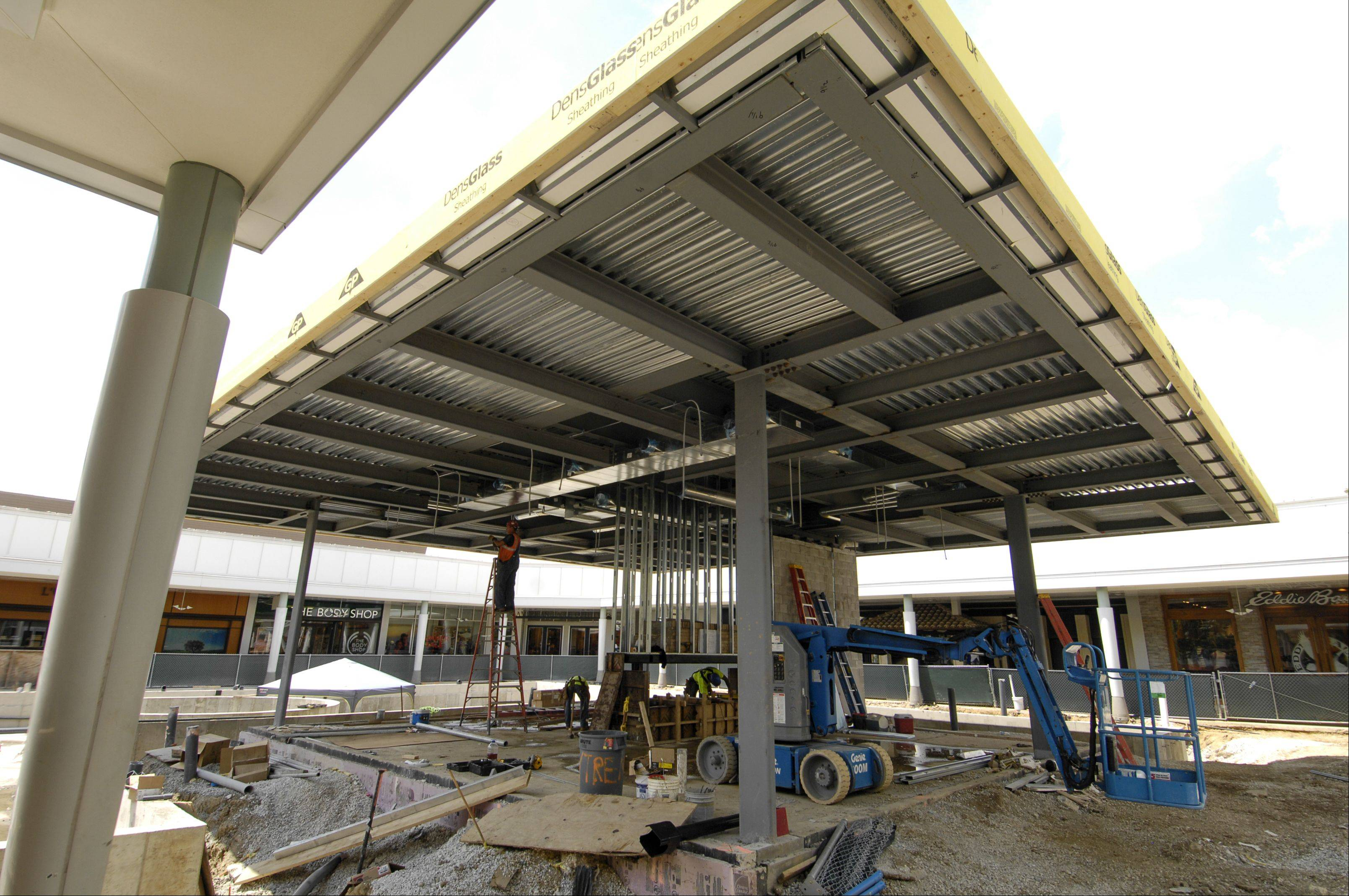 The new amenities pavilion will be used in both the summer and winter when renovations are finished.