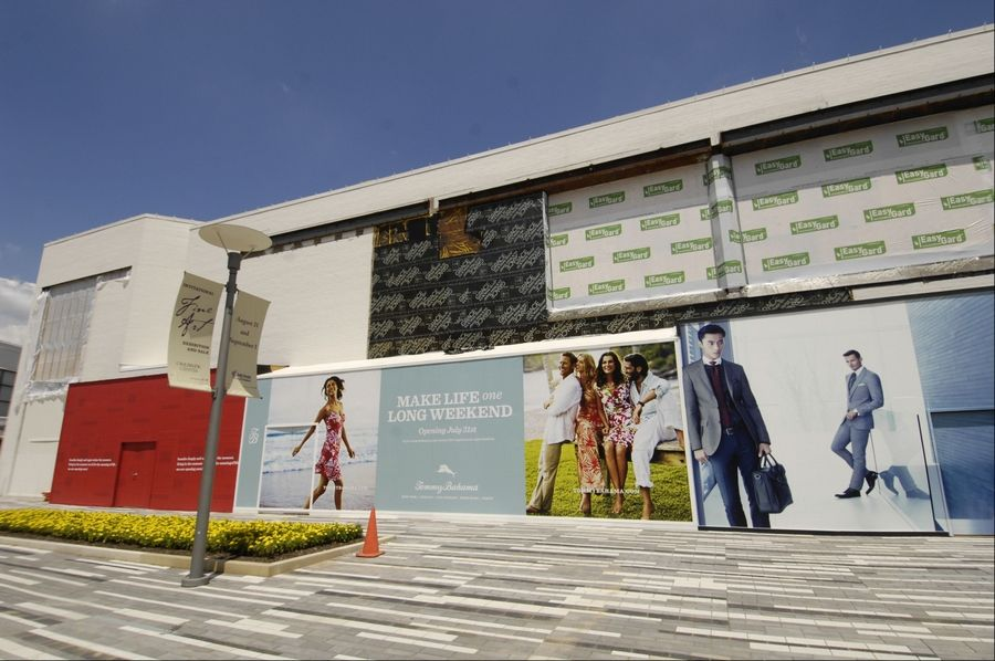 The former Bloomingdales, which closed in 2012, is being converted into six new stores.