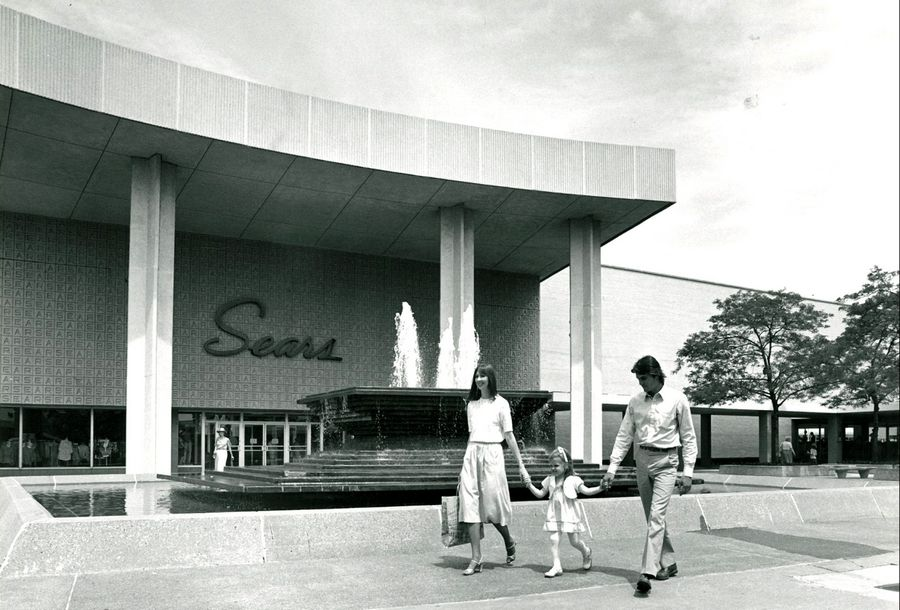 Sears was one of the first stores at the Oakbrook Center when it opened in 1962. It is pictured here sometime in the early- to mid-1960s.