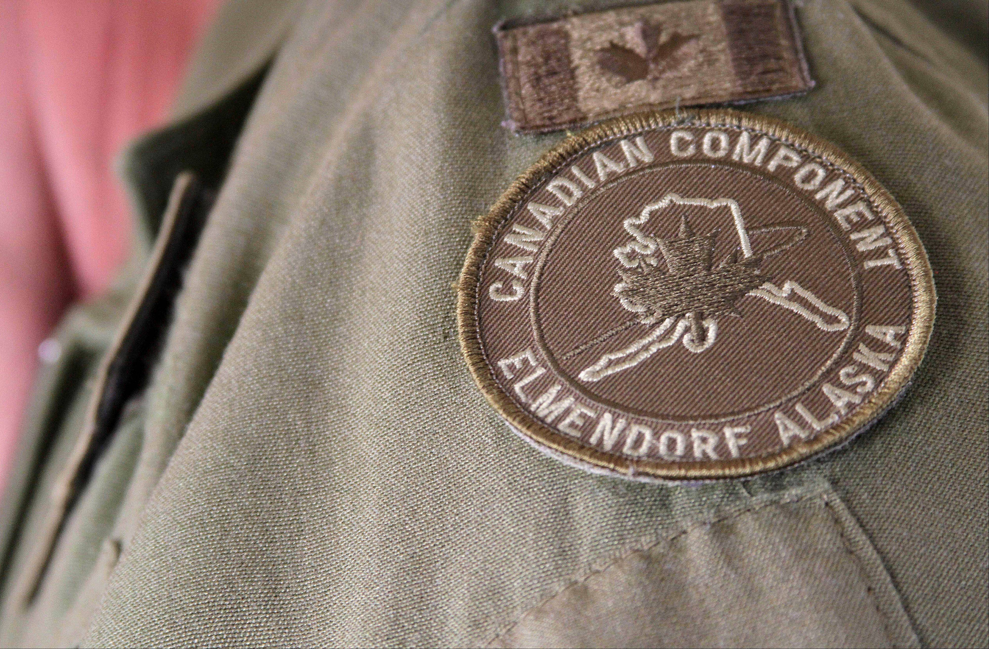 The NORAD patch worn by Col. Patrick Carpentier, deputy commander of the NORAD Alaska Region.