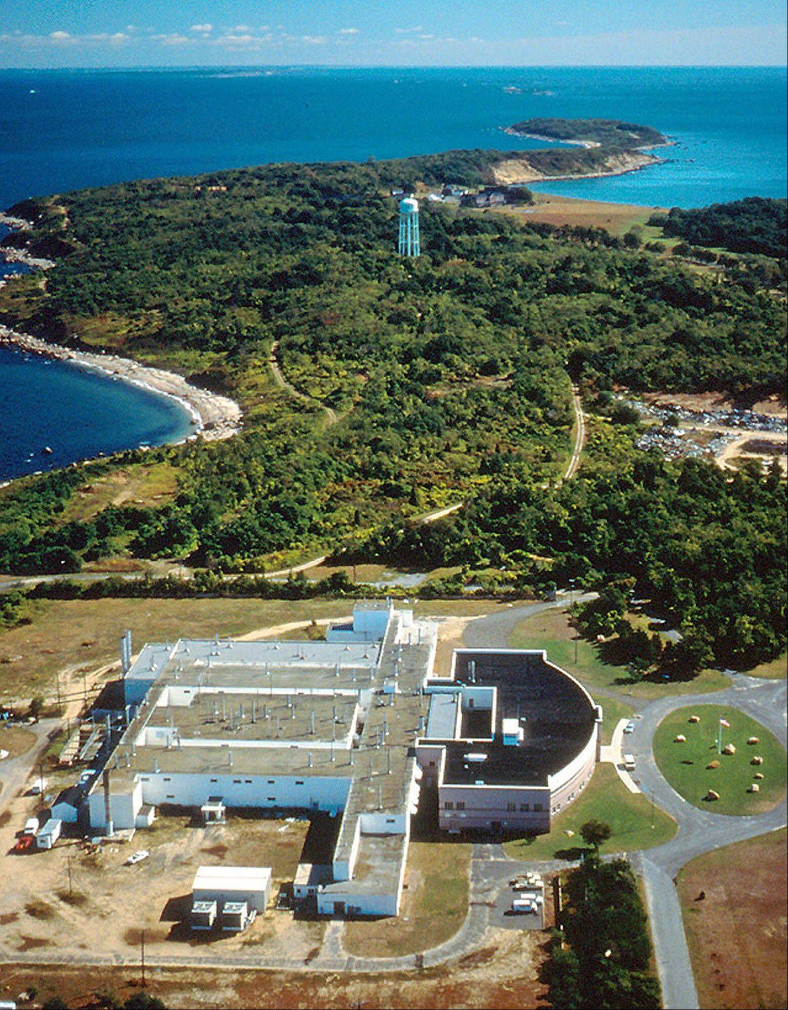 Plum Island Animal Disease Center, off the coast of New York's Long Island, is shown. There's been no estimate of what the 843-acre island could fetch at auction, but some lawmakers insist it will barely put a dent in the estimated $1.1 billion cost for a new animal disease new laboratory in Manhattan, Kan.