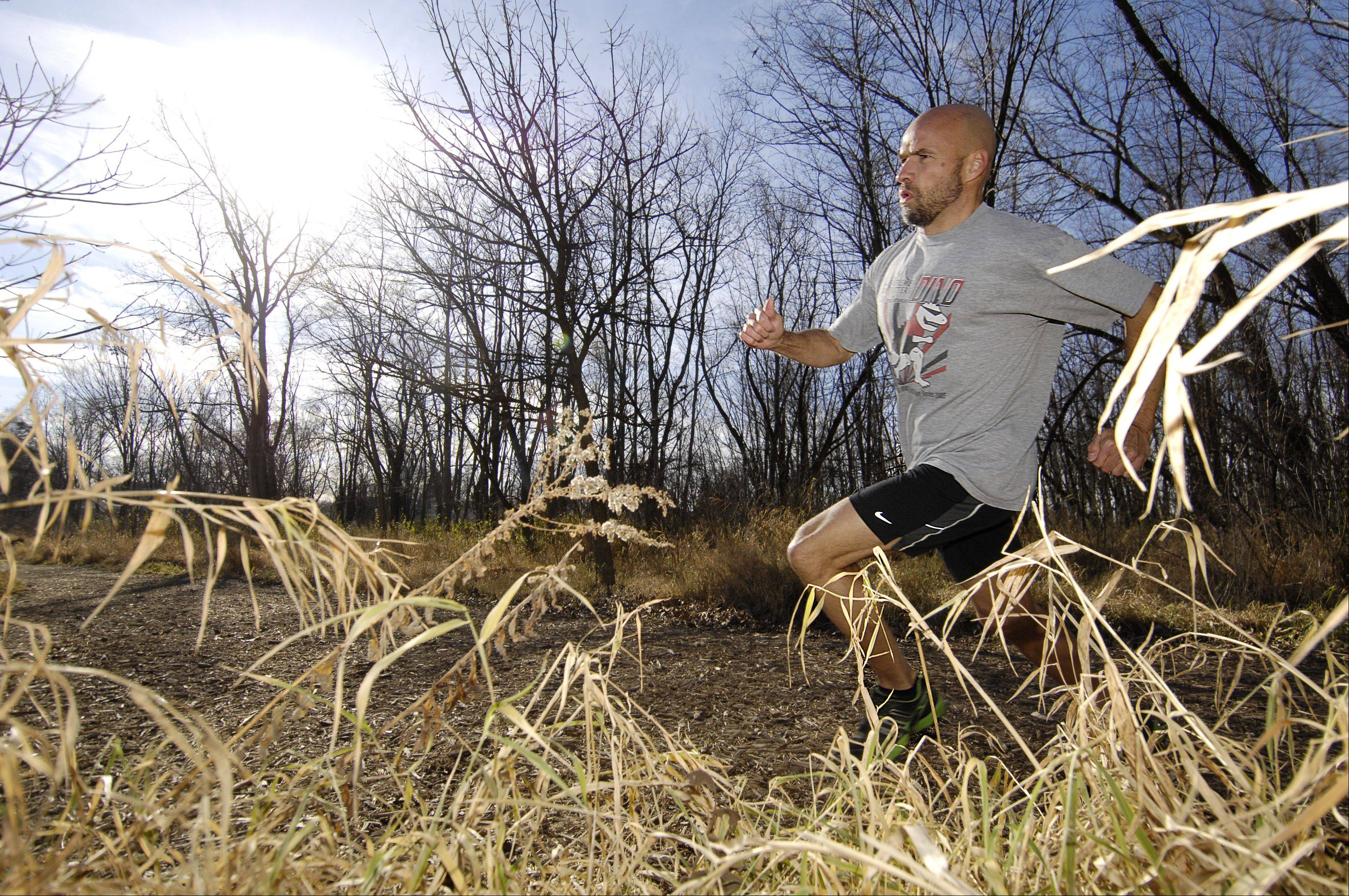 Mike DeMeritt of West Chicago competes each year in a 100-mile race in Wisconsin to raise money for DuPage PADS. He's part of the planning committee for the organization's Run 4 Home.
