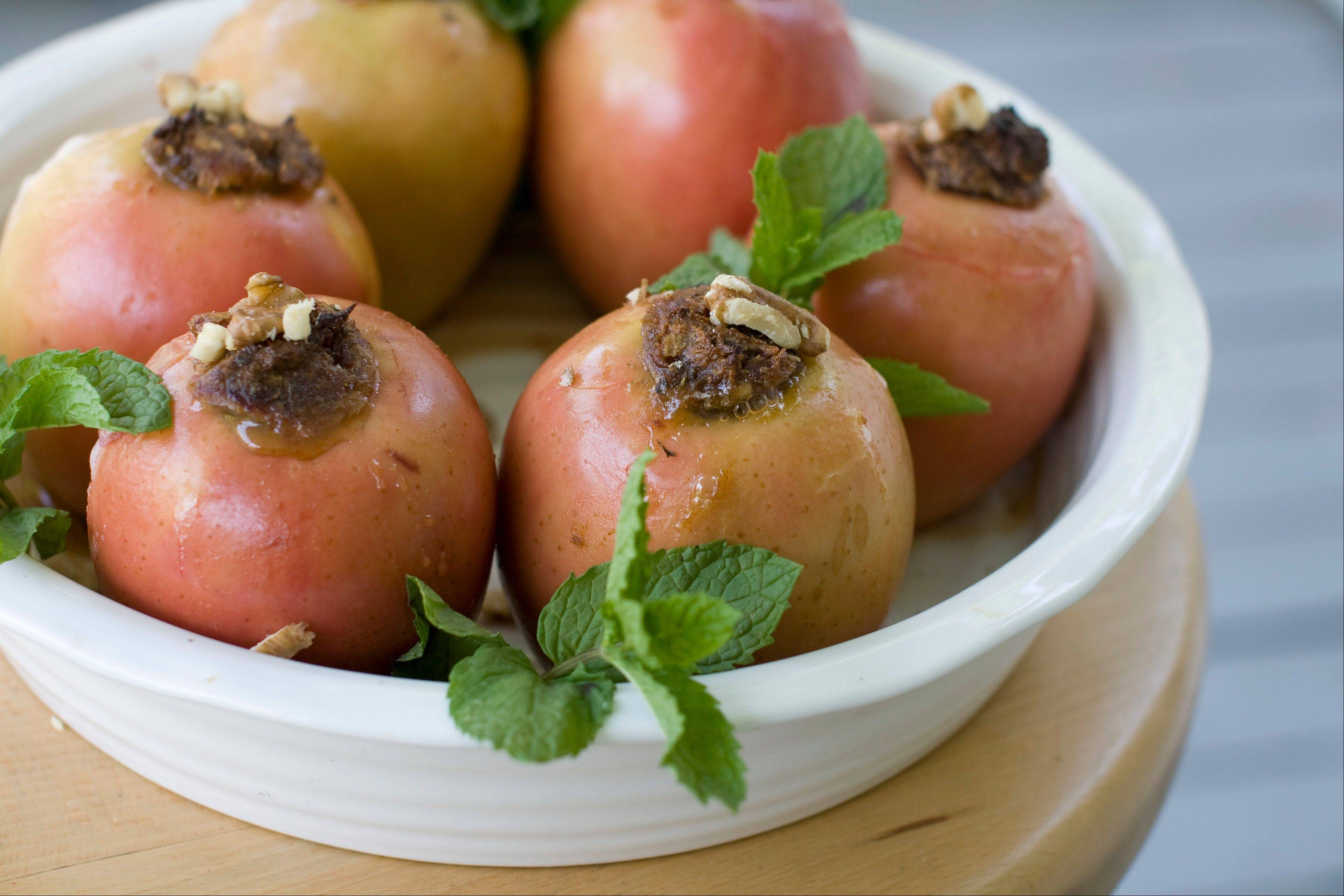 Kids can help make Baked Honey Date Apples for Rosh Hashana dinner or any other night of the week.