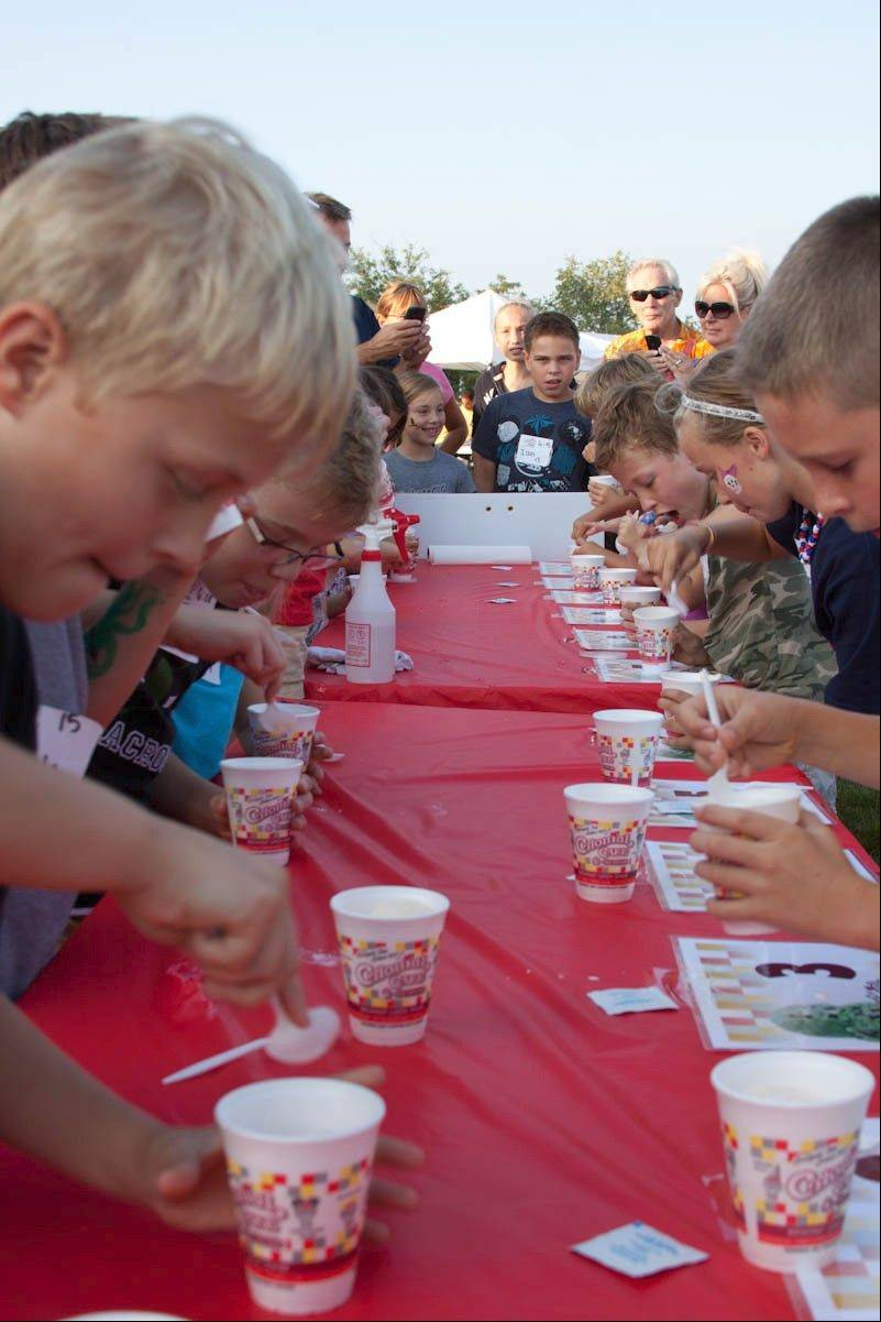 An ice cream eating contest is one of the many activities for kids at the United Fall Fest in Campton Hills. This year's third annual fest is 3 to 10 p.m. Saturday.