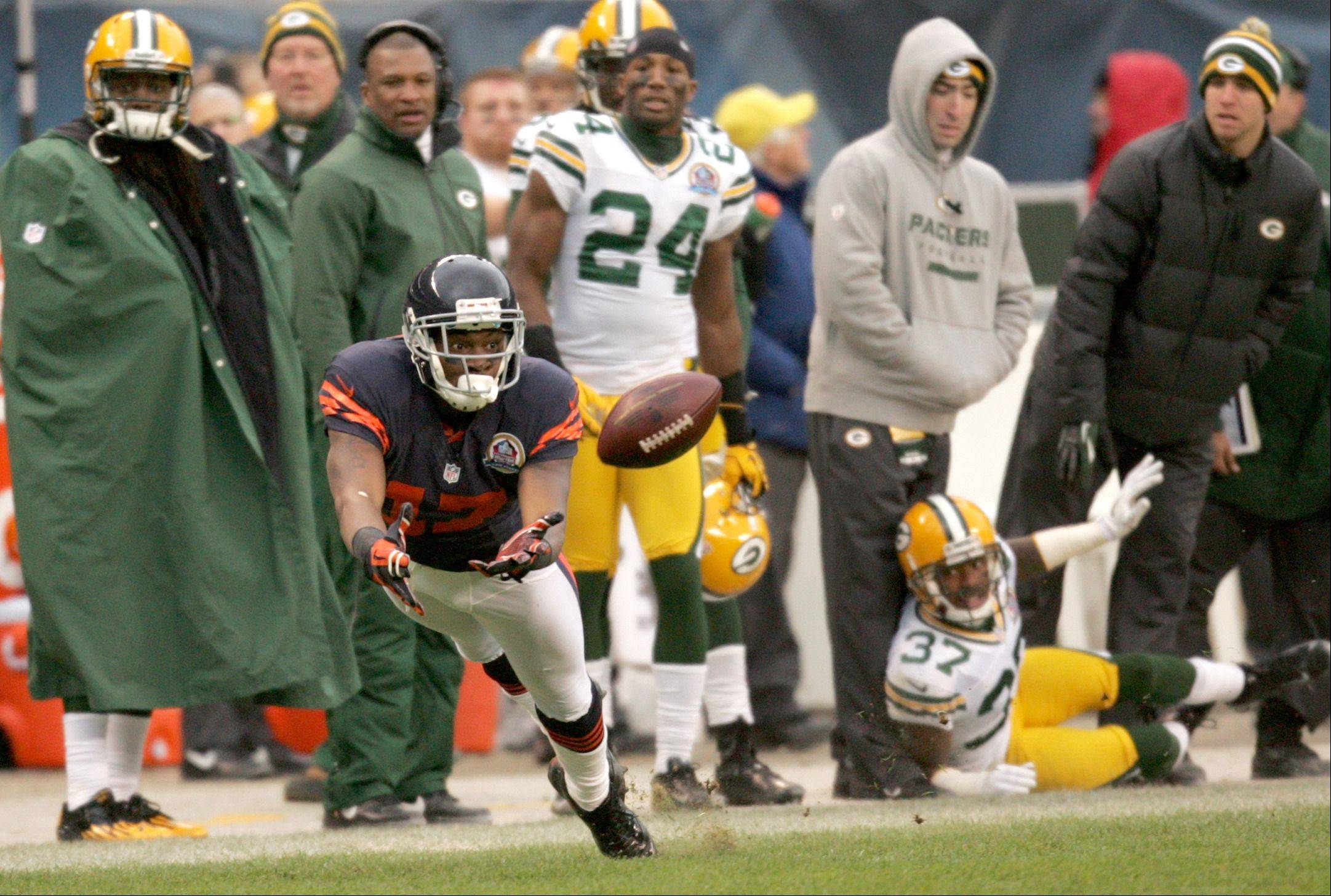 Wide receiver Alshon Jeffery is one of 28 original Bears on the roster, joining the team as a 2012 draft pick.