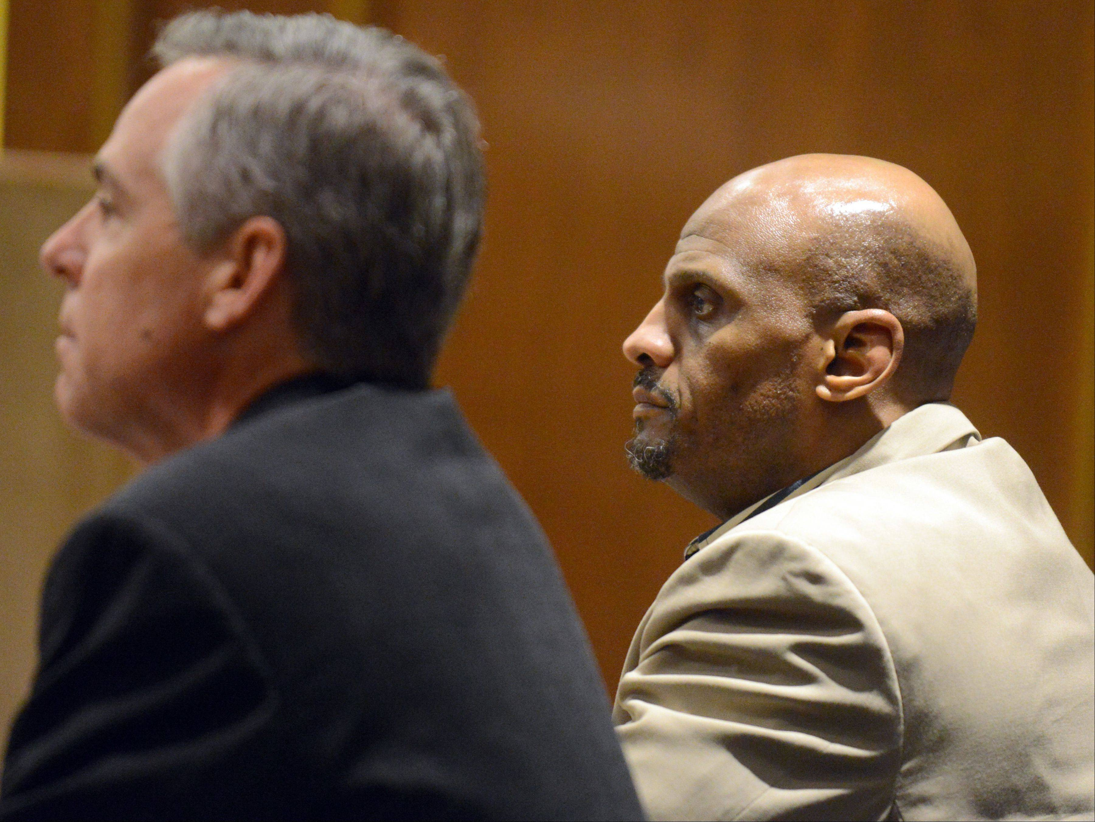POOL/Sun-Times Media, Thomas Delany Jr. James Ealy, of Lake Villa, during his murder trial in May.