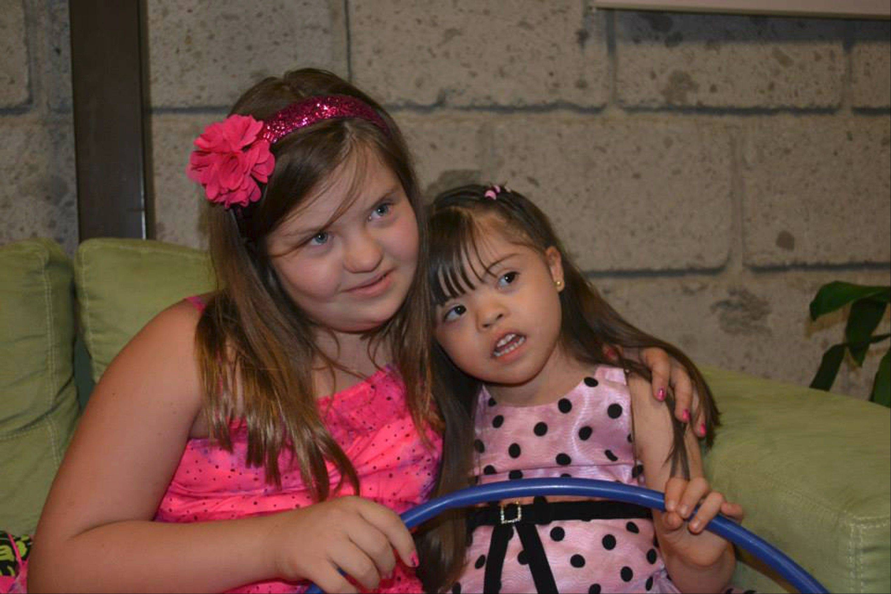 Gigi Gianni, 10, left, easily made friends when she visited the new Gigi's Playhouse in Mexico last month.
