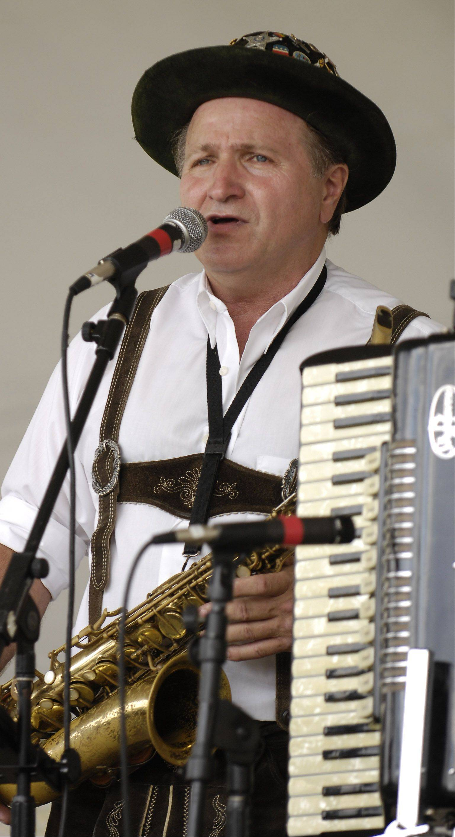 Johnny Wagner of Pingree Grove performed at the 2012 Platzkonzert, an Oktoberfest-themed festival.