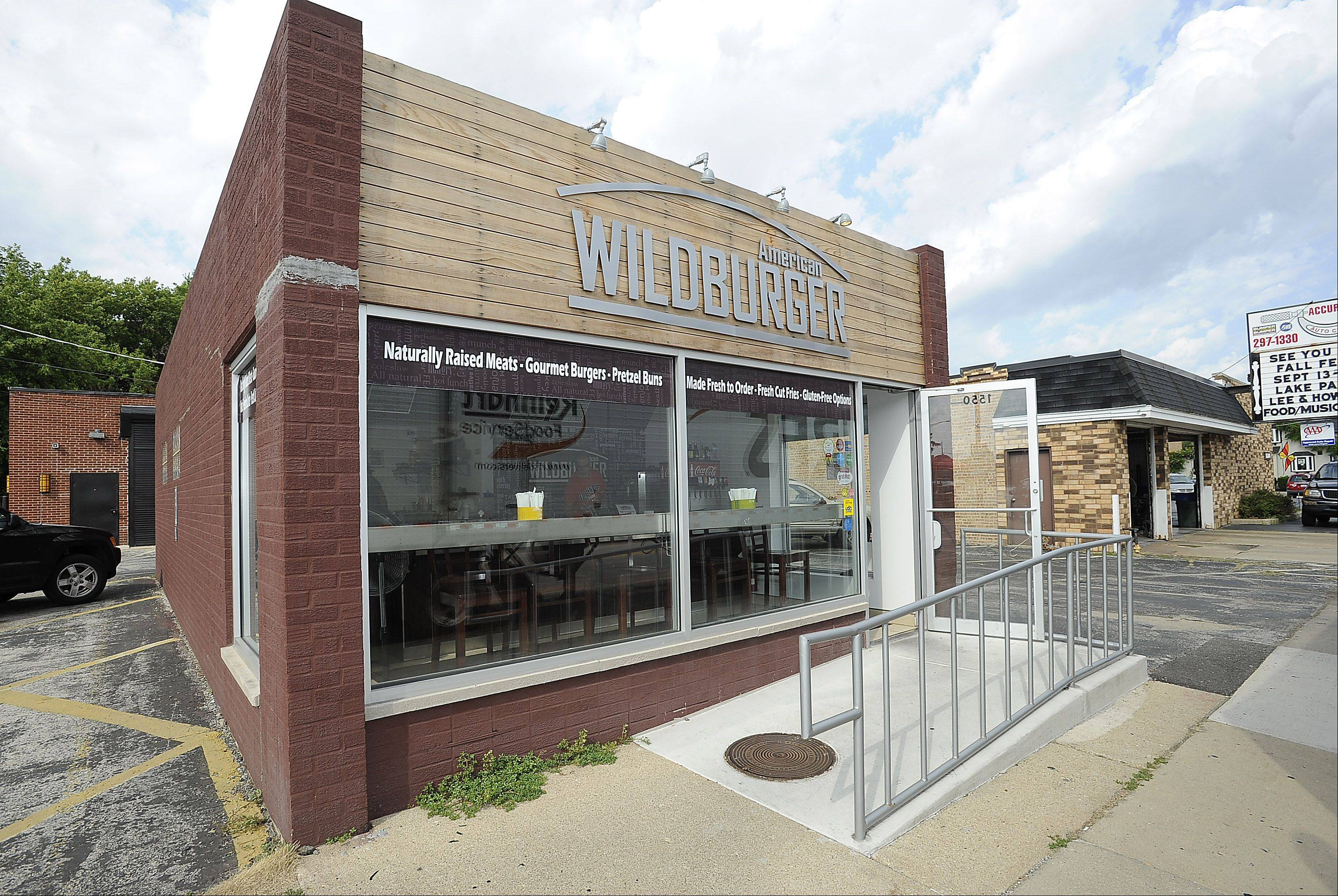 The American Wildburger in Des Plaines serves gourmet burgers from a small storefront on Oakton Avenue.