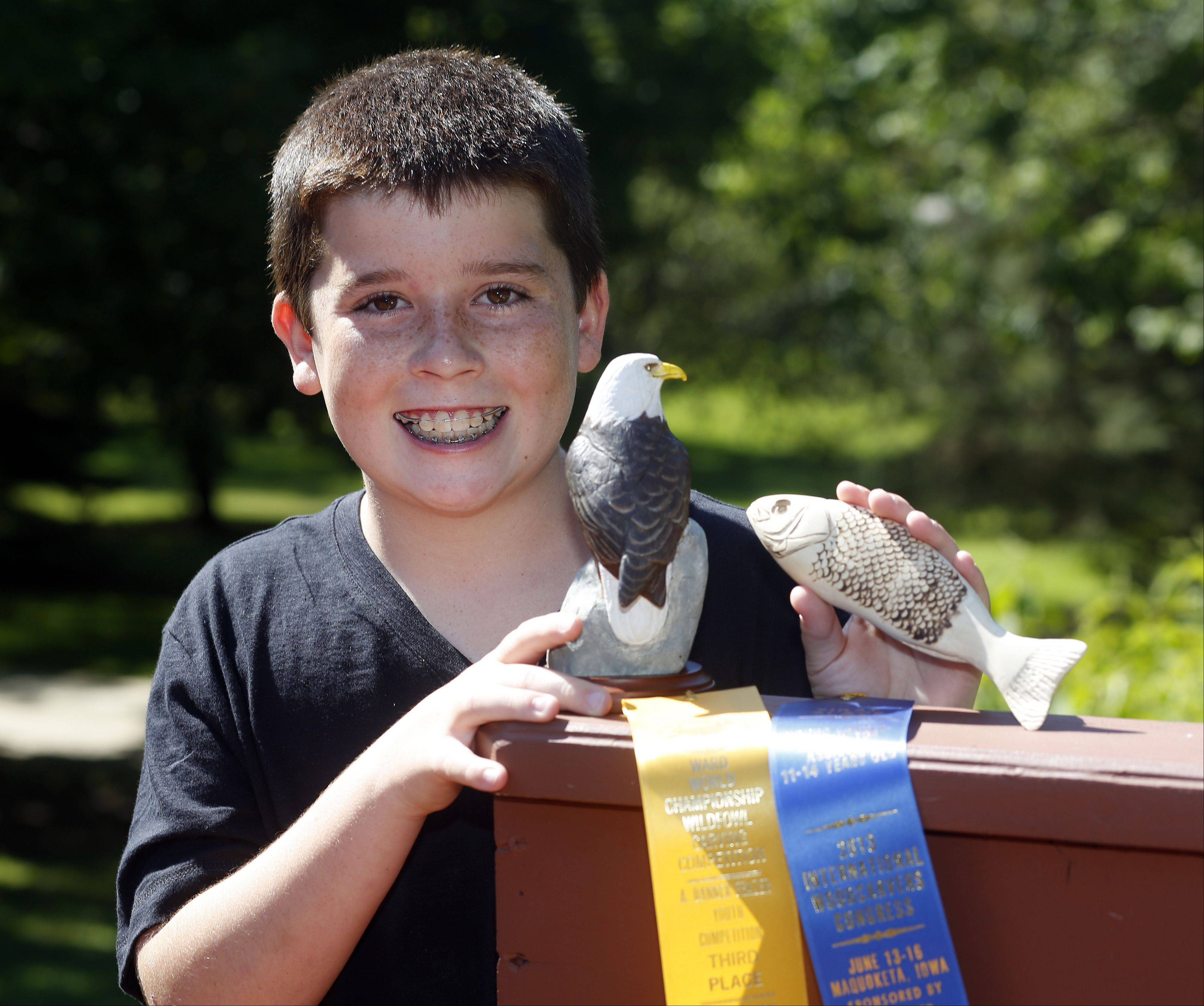 Shane Cloonan took third in his category and age group at the Ward World Championship Wildfowl Carving Competition in Maryland, and first place in his age group at the International Woodcarvers Congress competition in Iowa.