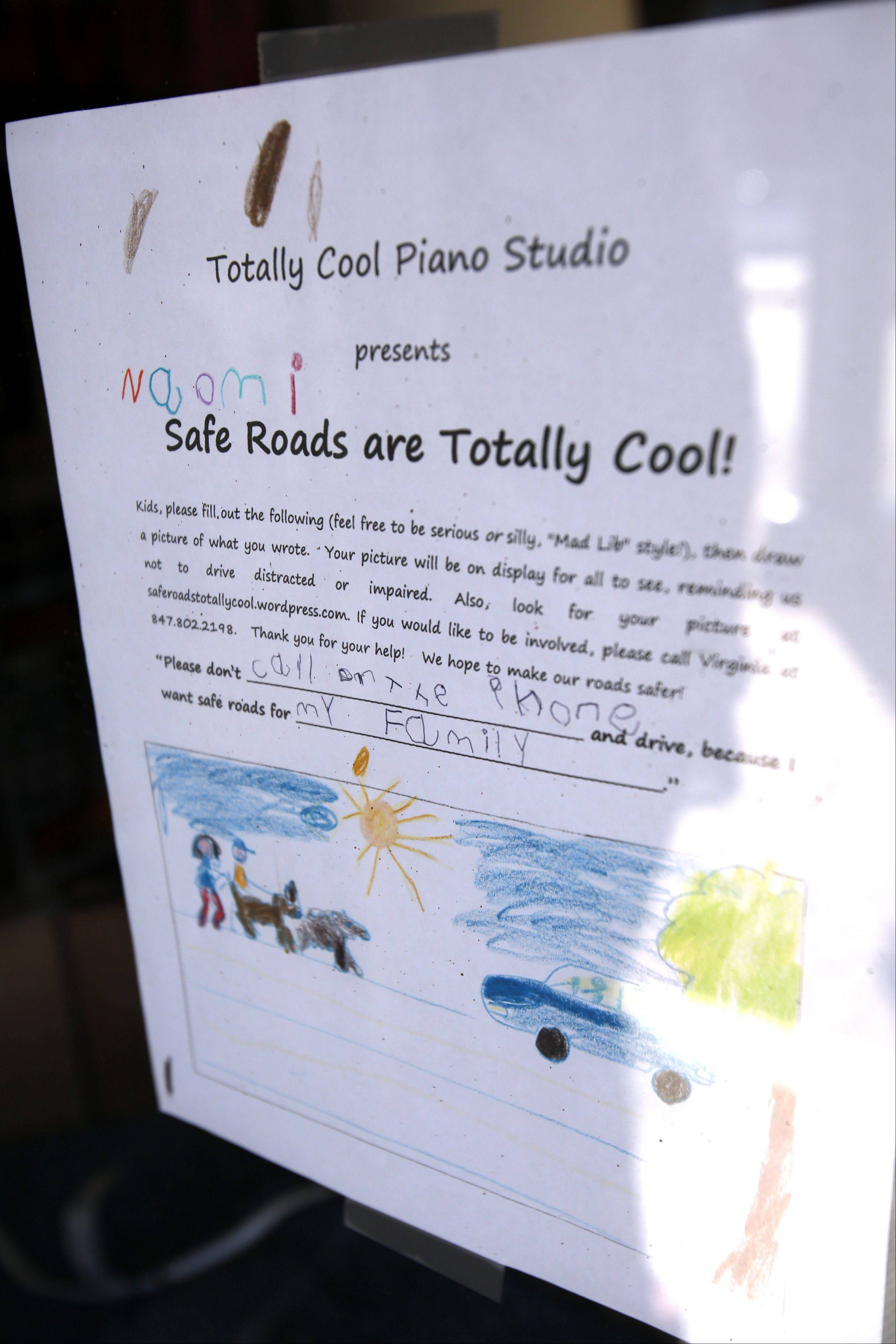 "Virginia Smith, a piano teacher from Elgin, recently started ""Safe Roads are Totally Cool!"" The project enlists children's help to raise awareness about distracted and impaired driving."