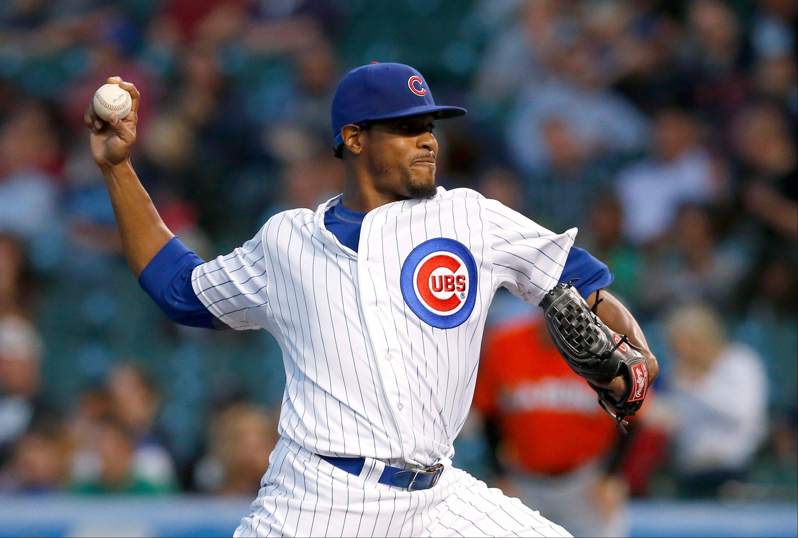 Cubs starting pitcher Edwin Jackson lasted only 5 innings Tuesday night as he record fell to 7-15 with the loss to the Marlins.