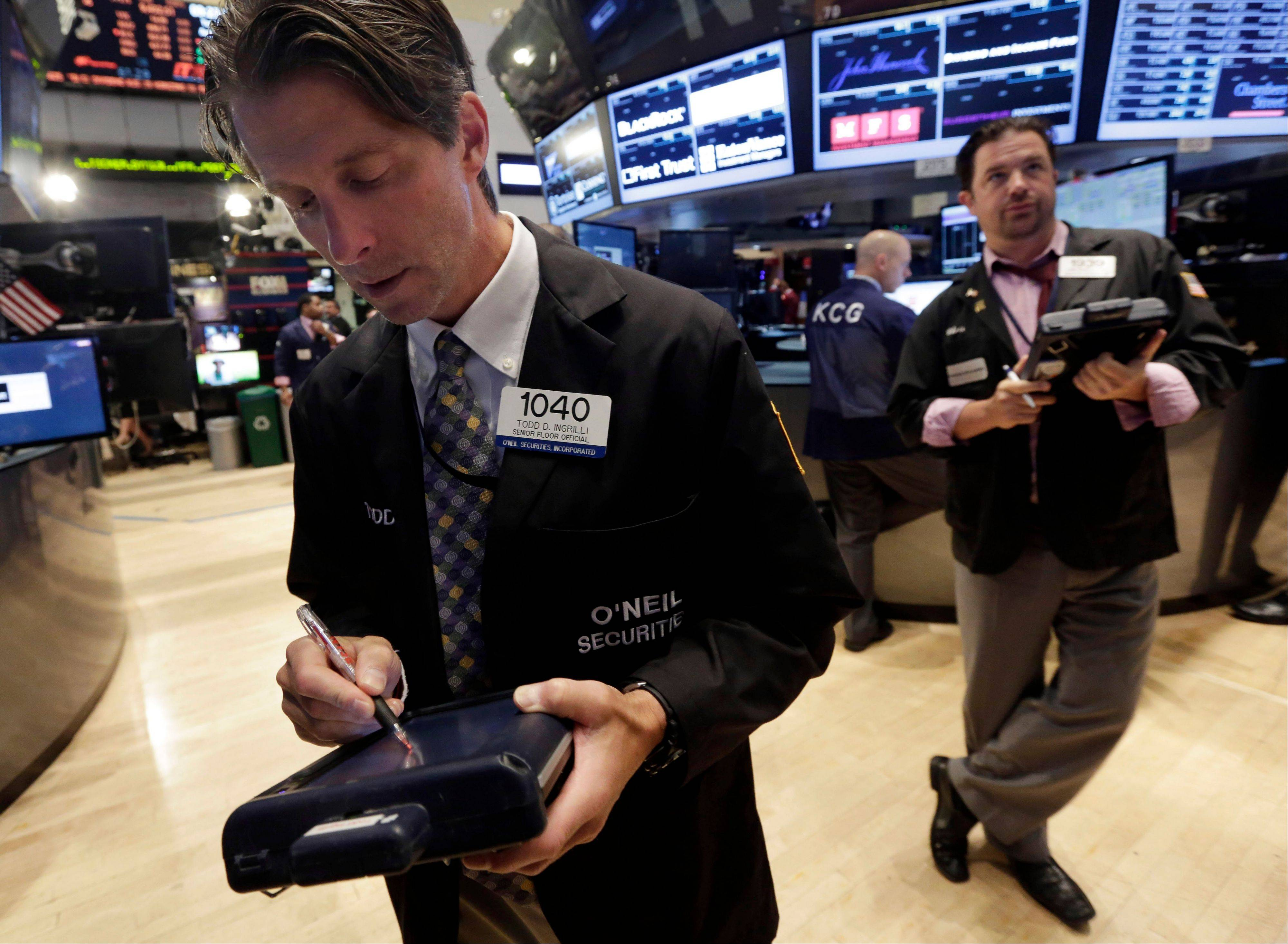 U.S. stocks rose, with benchmark indexes staging the longest rally since July, as investors weighed data on the labor market and American services industry before tomorrow�s monthly jobs report.