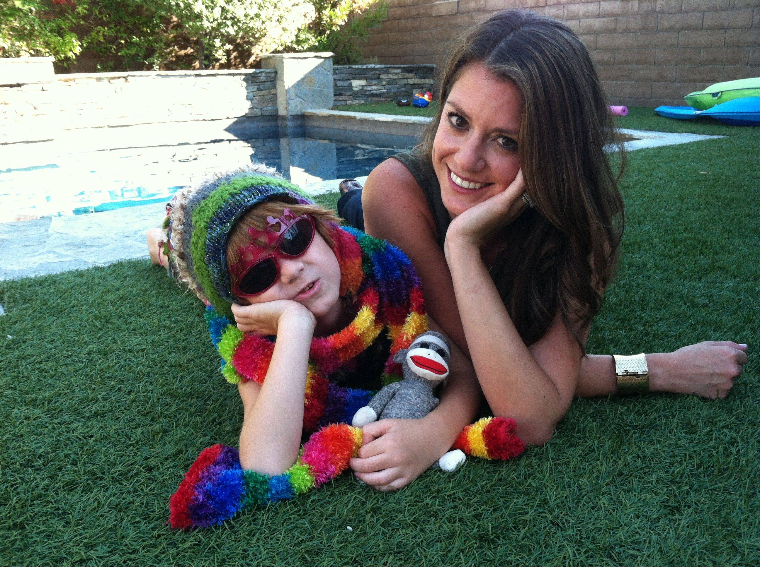 Lori Duron, right, and her son, the inspiration for Duron�s book �Raising My Rainbow: Adventures in Raising a Fabulous, Gender Creative Son,� at their California home.