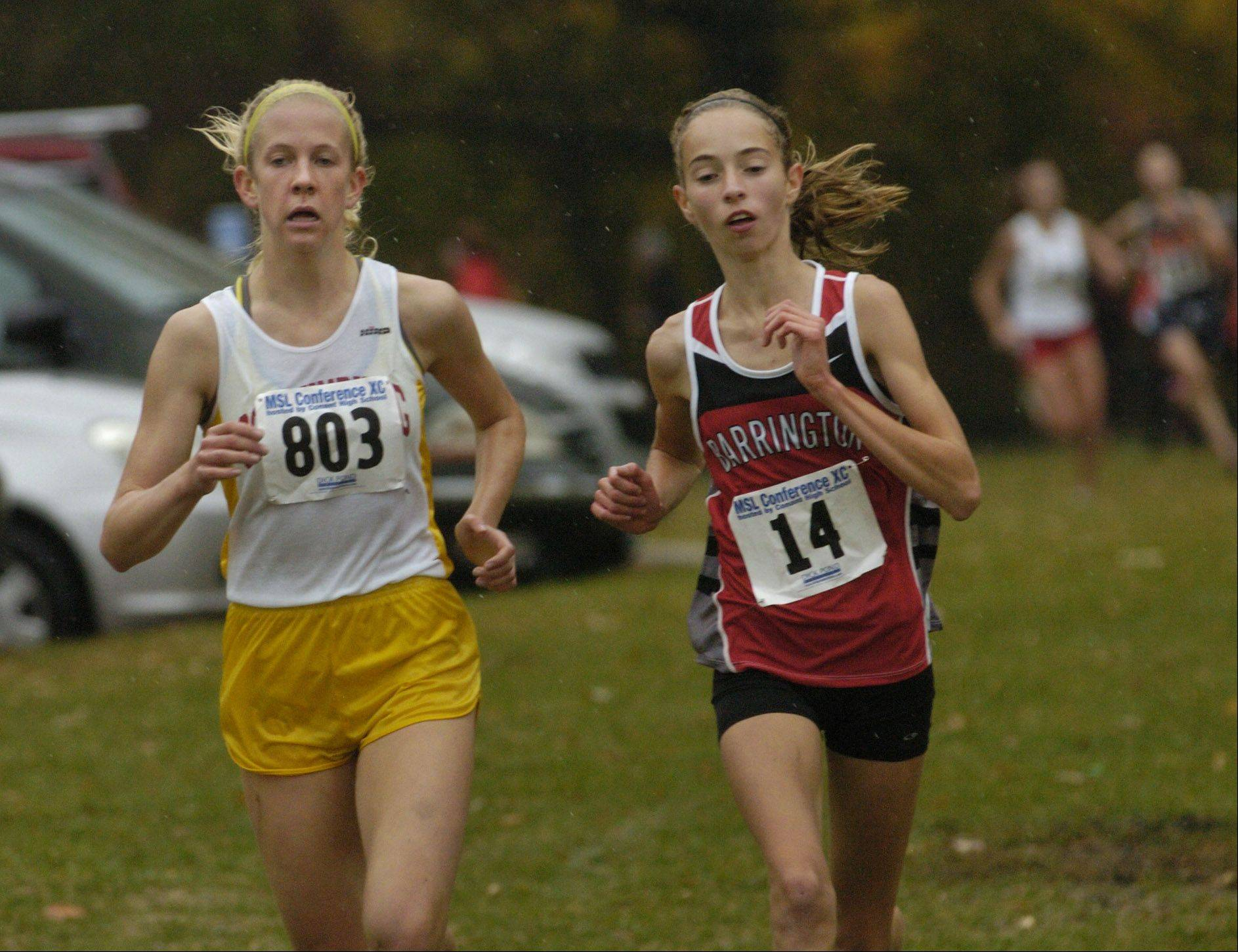 Caroline Kurdej of Schaumburg, left, and Barrington�s Lauren Conroy figure to be among the area�s top competitors this fall.