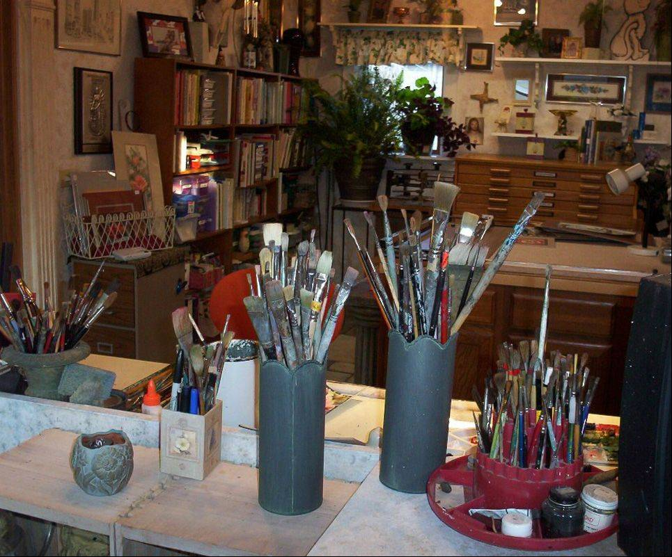 The Geneva studio of watercolor artist and Greater Geneva Art Guild President Lorraine Ochsner will be featured on the guild's 2013 Art Studio Tour.