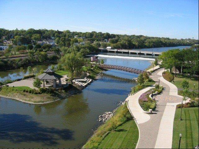 Walton Island, reconstructed in 2002 as part of Elgin's Riverfront/Center City Master Plan, was among its first efforts to use the Fox River as an economic catalyst. Suburbs along the Fox have been transforming their riverfronts.