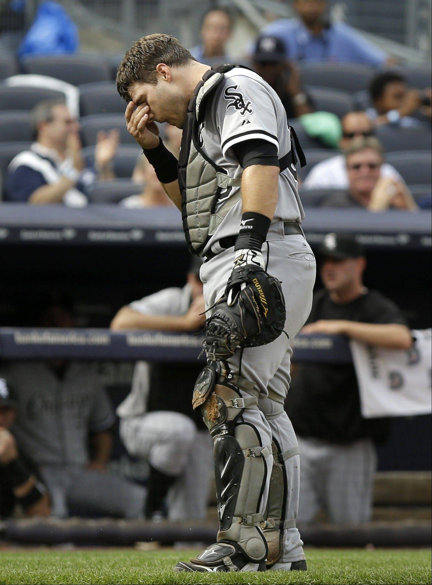 White Sox catcher Josh Phegley has struggled after starting his major-league career on a hot streak.