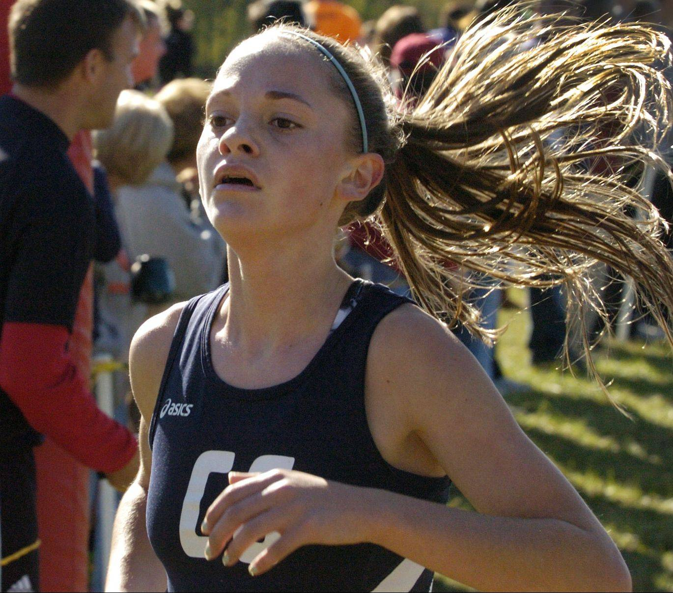 Cary-Grove junior Talia Duzey earned all-state honors last season, finishing 25th at the state girls cross country meet.