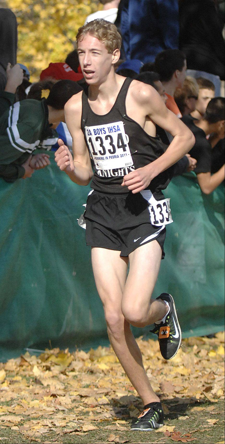 Kyle Carter is one of four returning state runners for Kaneland.