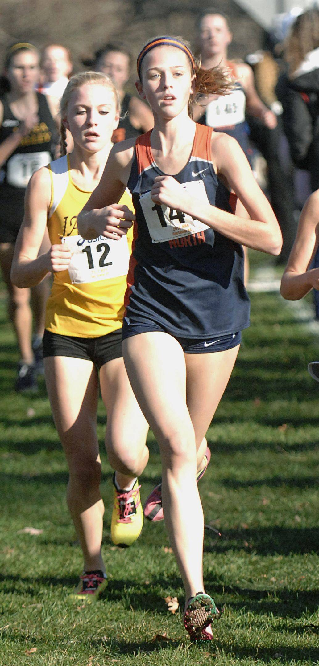 Naperville North's Elly DeTurris, front, hopes to lead the Huskies to another state championship this season.