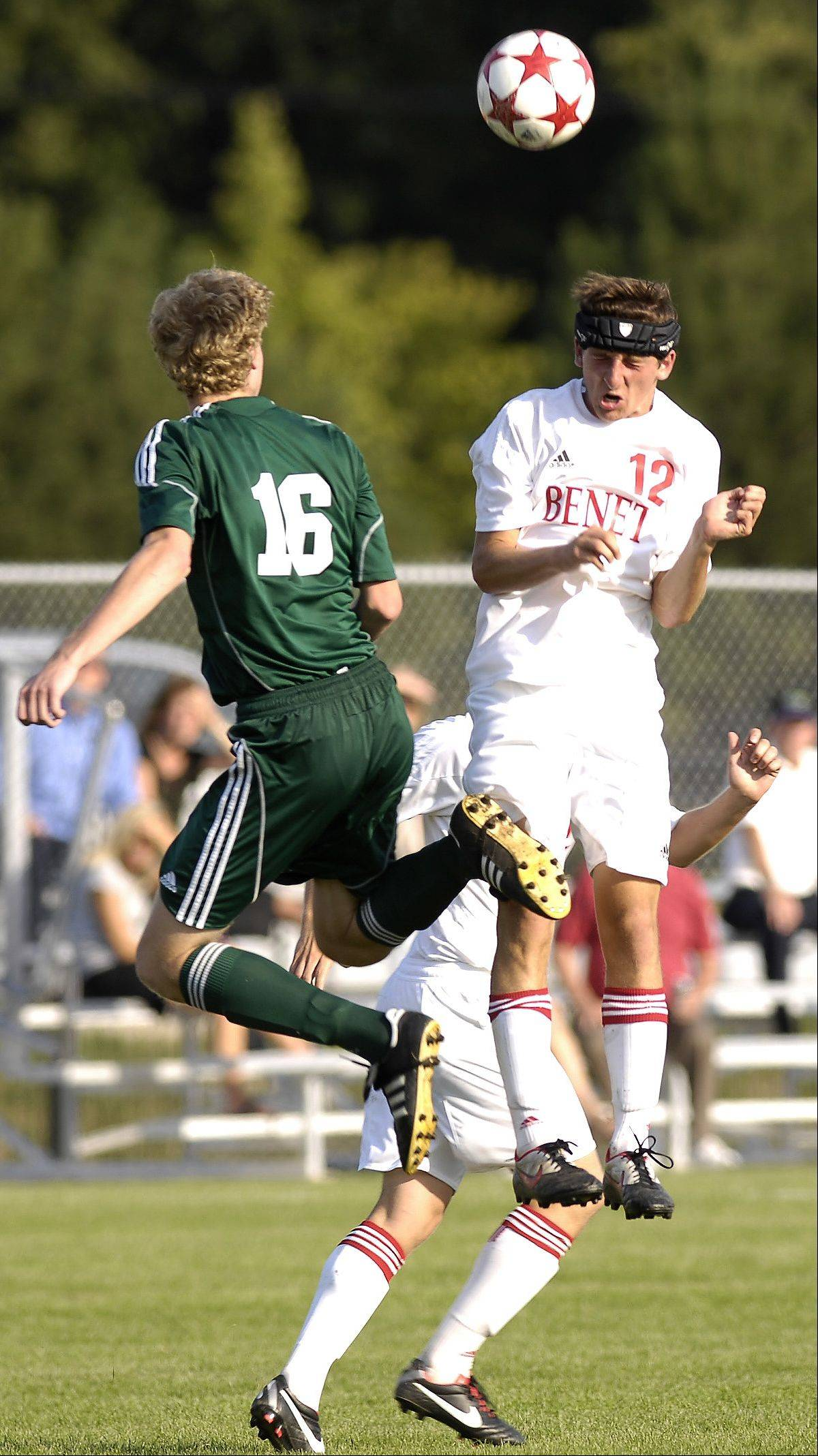 Kyle Kenagy, right, will move from defense to forward to spark the Benet attack this season.