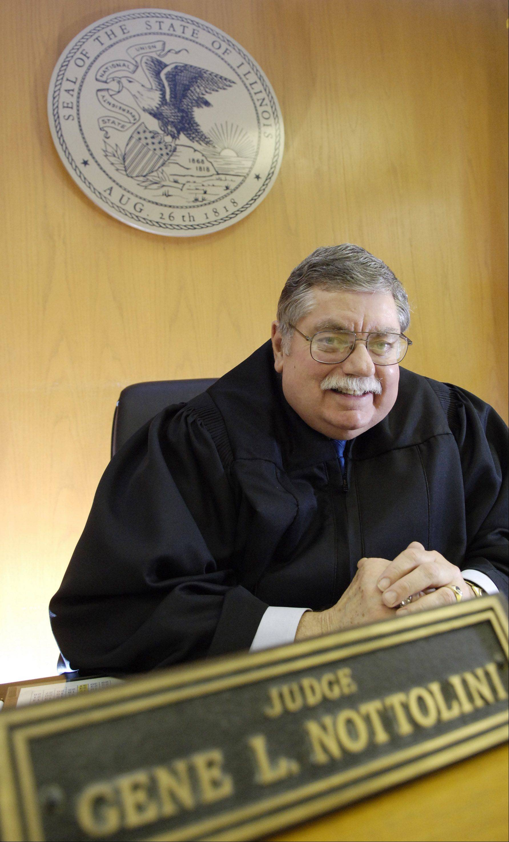 Gene Nottolini served as a Kane County judge from 1989 to 2005, including a stint as chief judge from 1993 to 1996. Here is shown in November 2005, just before his retirement.