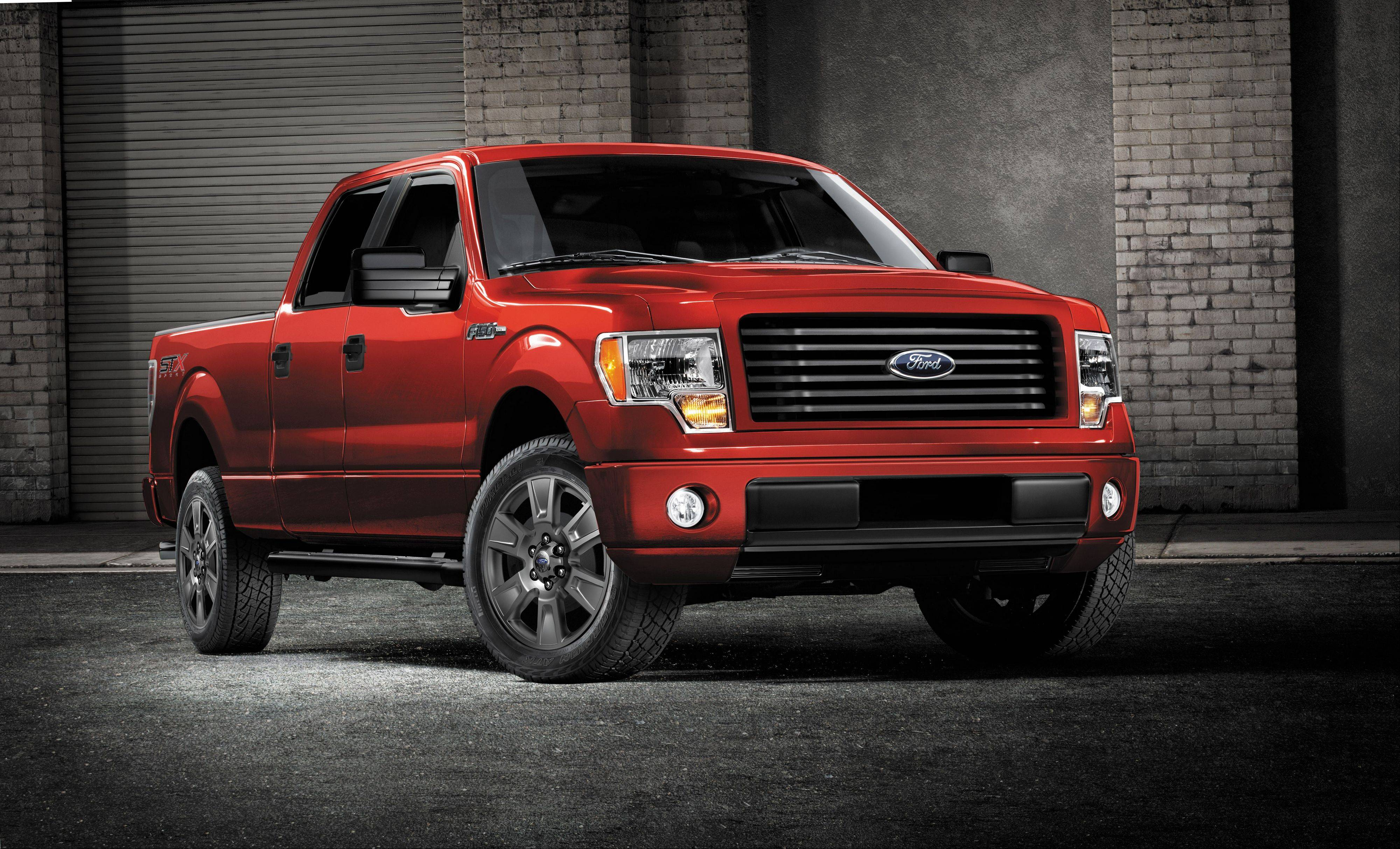 The 2014 Ford F-150 STX SuperCrew truck. Ford will add a four-door cab to its F-150 STX line ths fall.