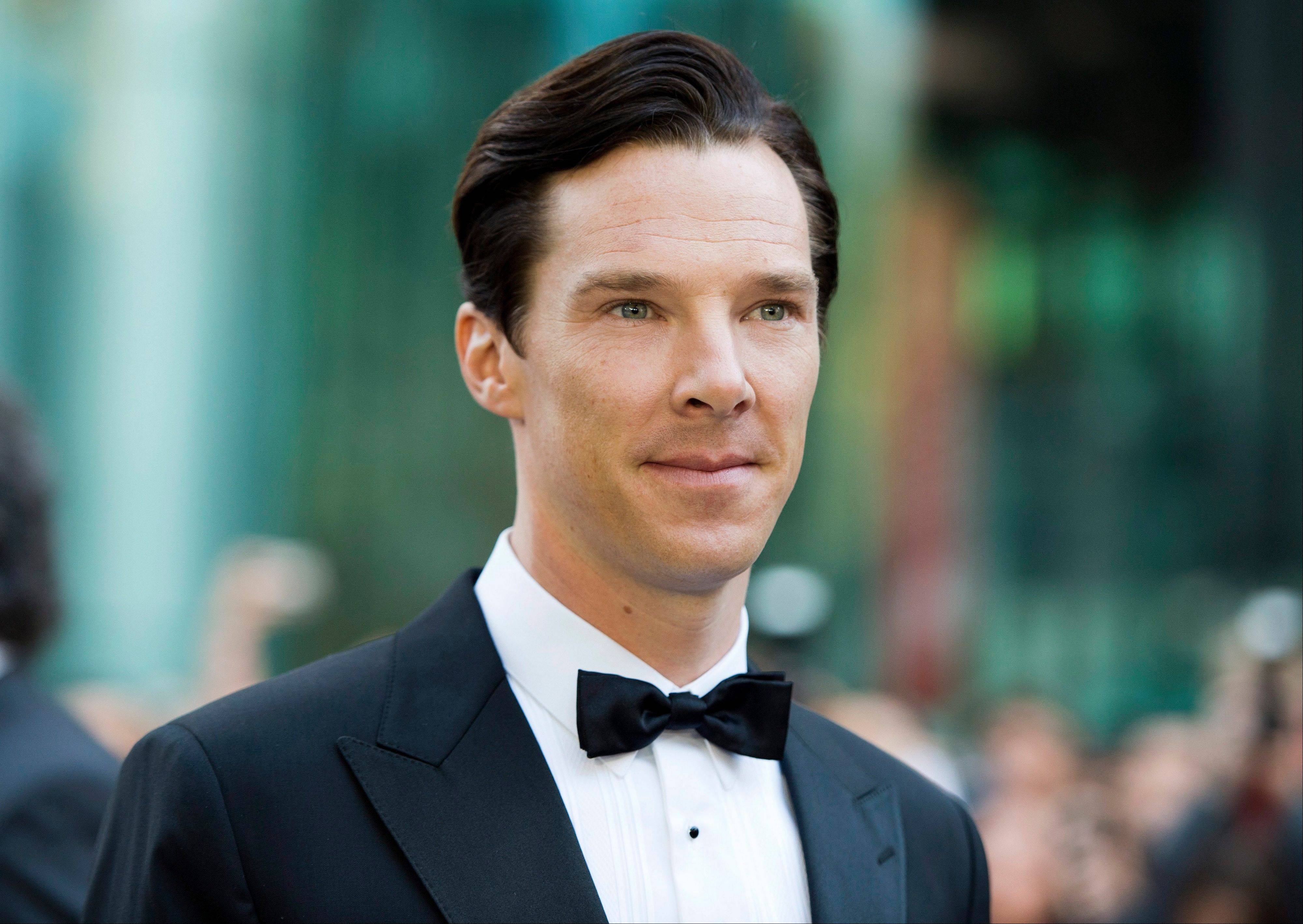 "Actor Benedict Cumberbatch at the gala for the new movie ""The Fifth Estate"" during the 2013 Toronto International Film Festival in Toronto."