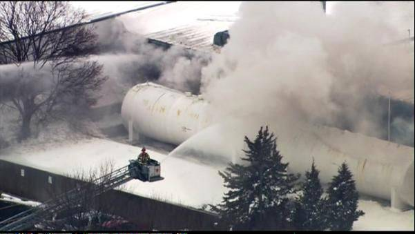 A federal agency has fined Fox Valley Systems, Inc., seen here after it caught fire and exploded in March, $262,000 for 26 safety violations in relation to the incident. Three employees were injured in the fire and explosion. Fox Valley Systems has 15 days from Thursday to appeal the penalties.
