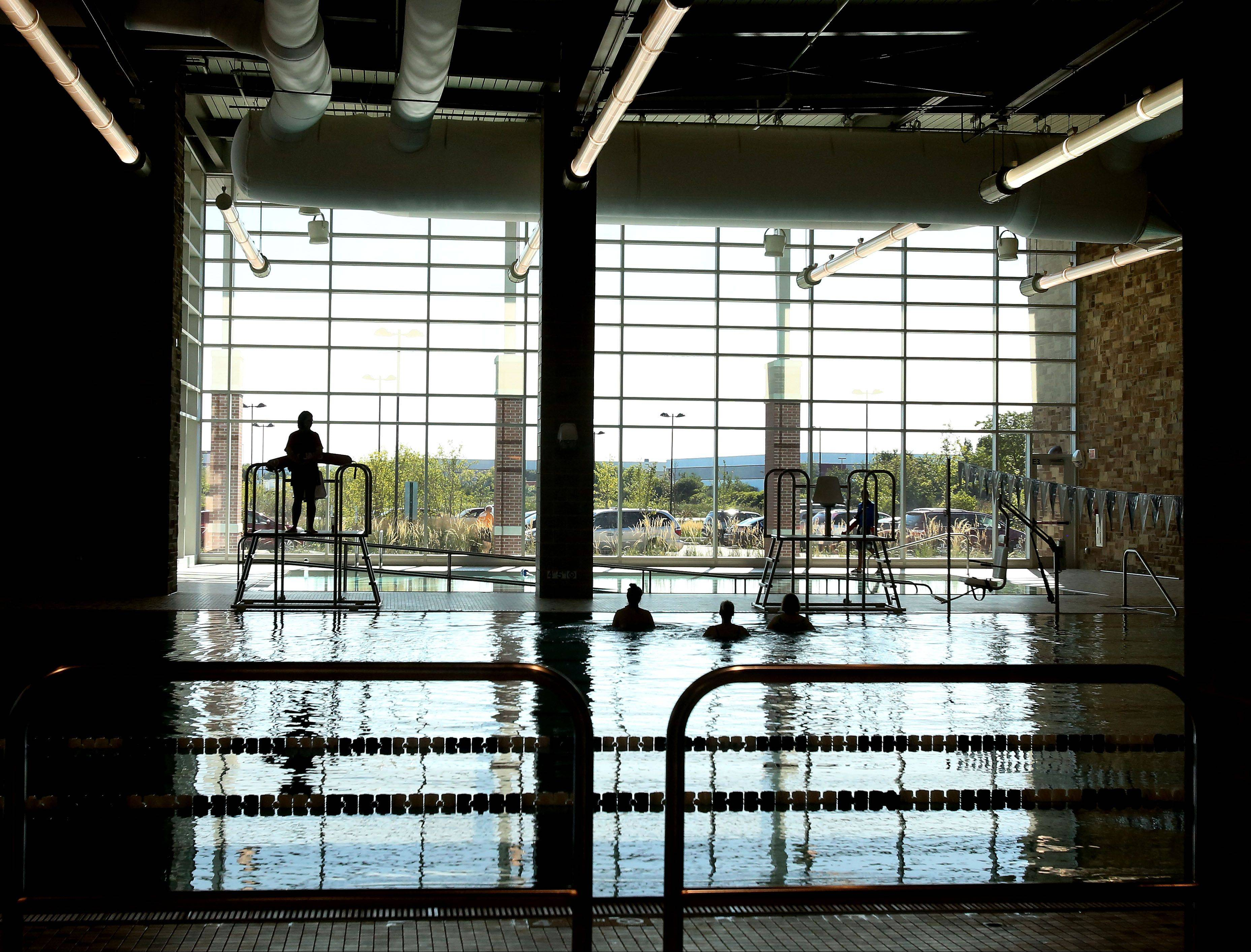 A 8-lane, 25-yard swimming pool is one of the features of the Fountain View Recreation Center in Carol Stream.