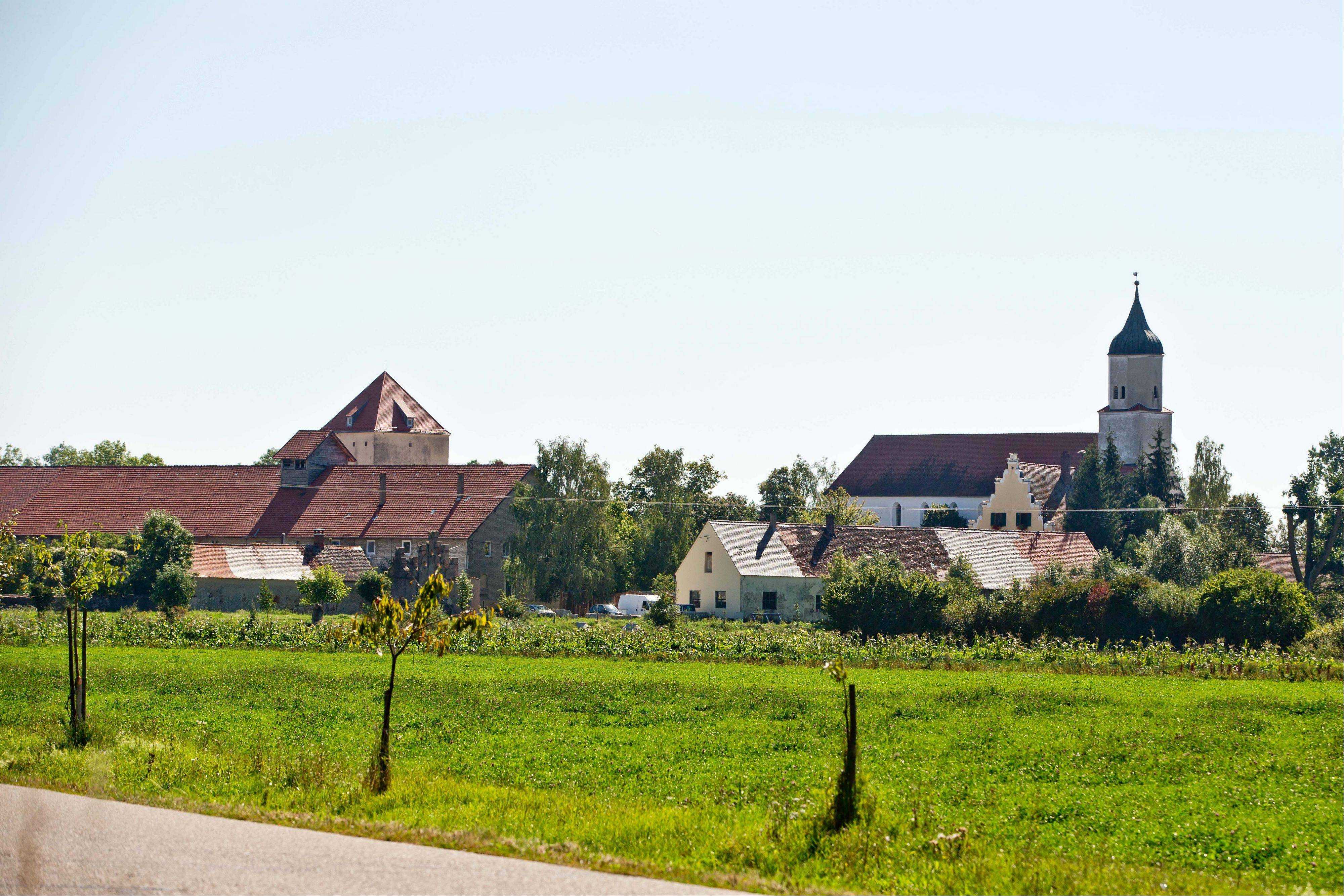"This picture taken Thursday, Sept. 5, shows the village of Klosterzimmern near Deiningen, Germany, which is one of the homes of the ""Twelve Tribes"" sect. Police say they have raided the Christian religious sect in Bavaria and taken 40 children from them on allegations that they were being physically abused."