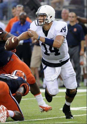 Penn State quarterback Christian Hackenberg was 22 of 31 for 278 yards, with a pair of 50-yard touchdown passes in the second half, in a season-opening win over Syracuse last week.