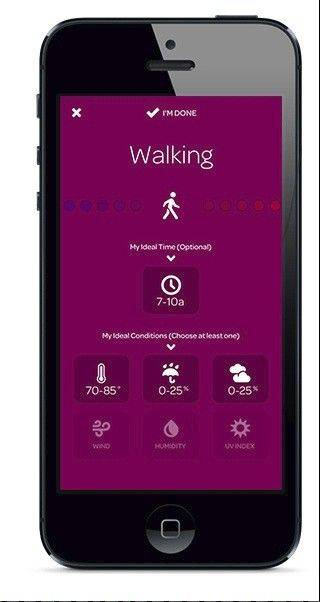 The Foresee app gives forecasts geared to specific activities, like hiking or biking.