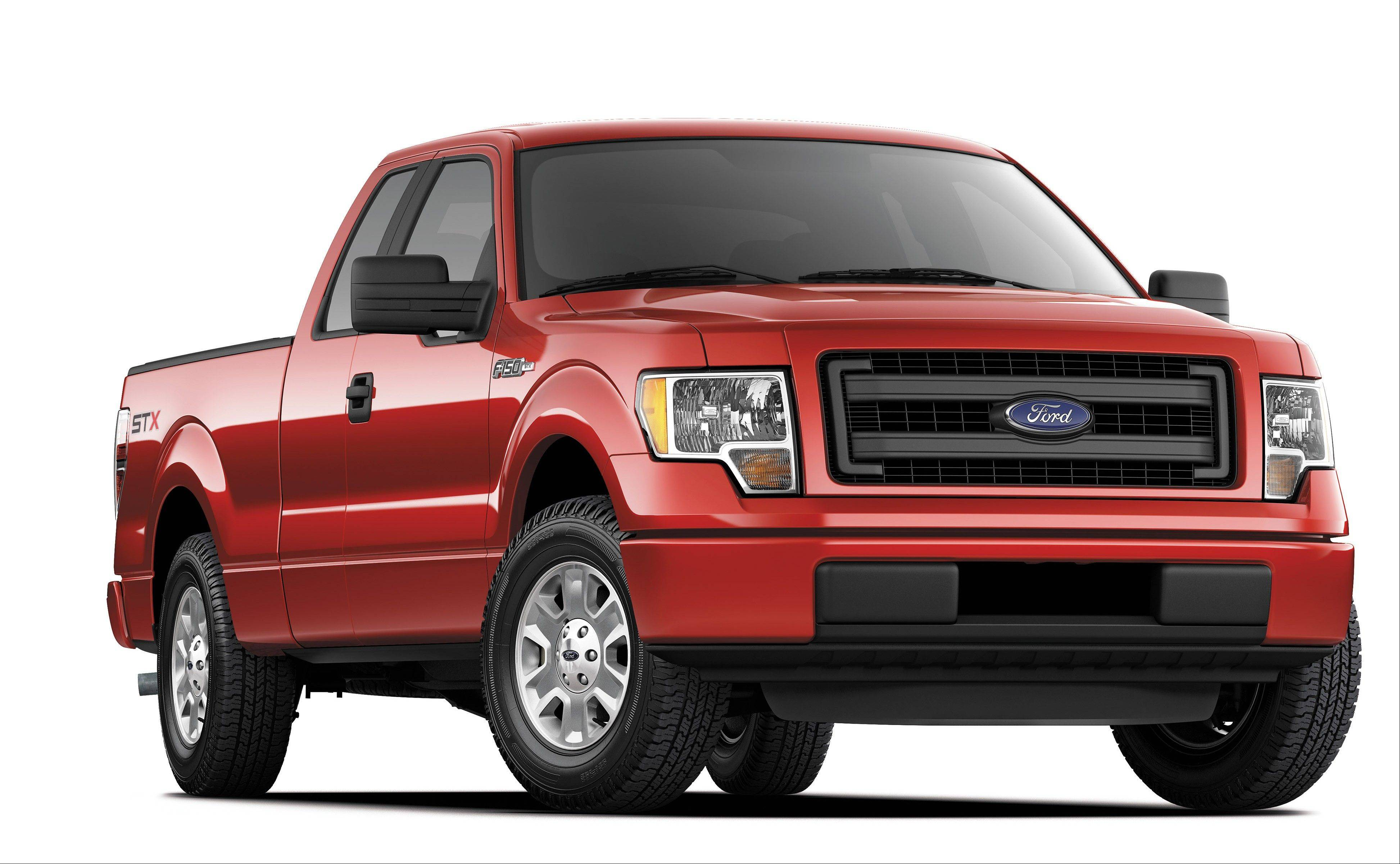 A 2014 Ford F-150 STX SuperCrew truck. Americans are paying record prices for new cars and trucks.