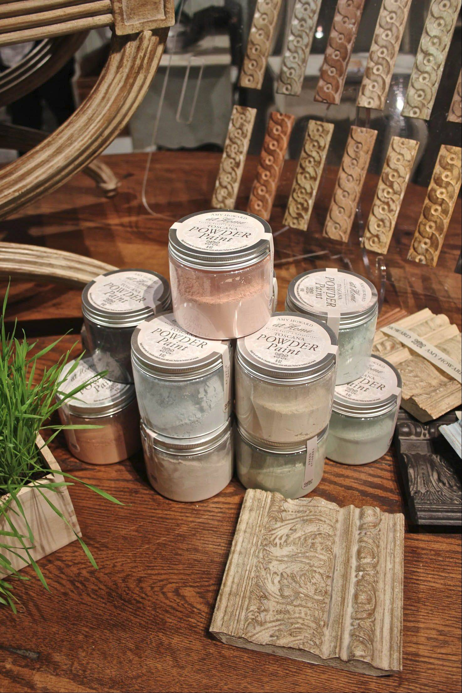 Furniture designer Amy Howard has a new line of powder paints to refinish old furnishings.