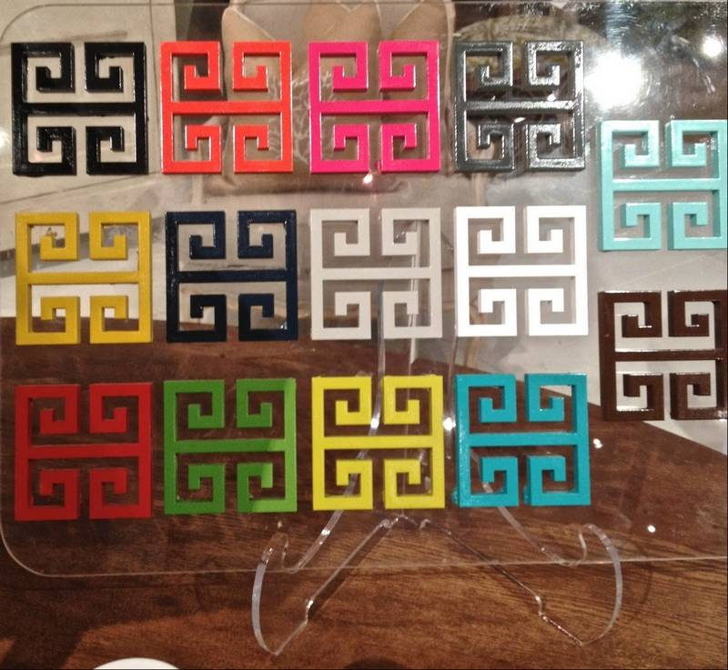 A Display Of Lacquer Paint Colors Available From Amy Howard At Home