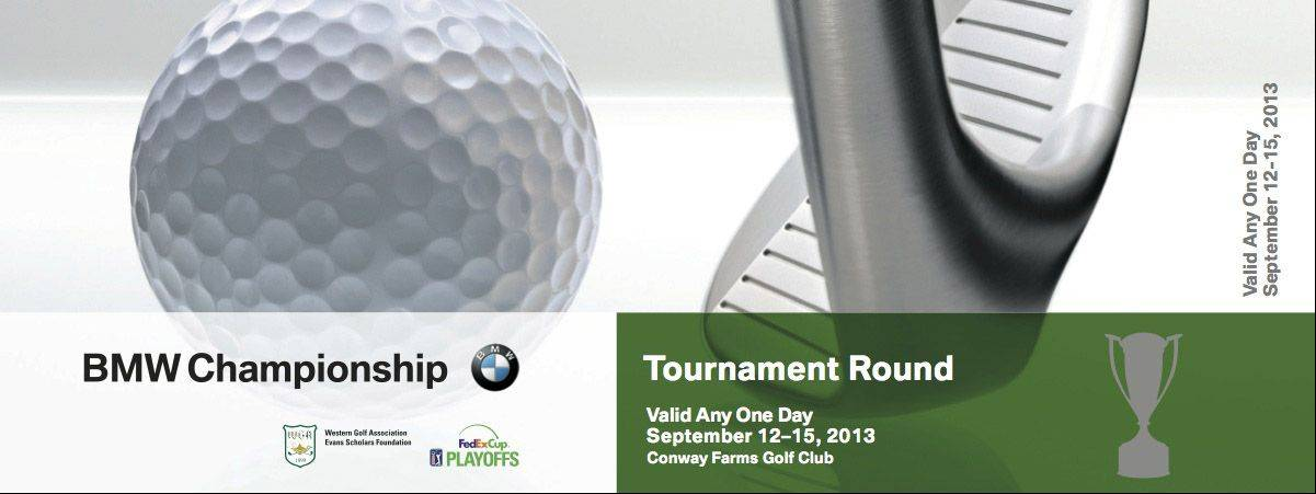 A sample ticket for the Conway Farm's BMW Championship in Lake Forest.