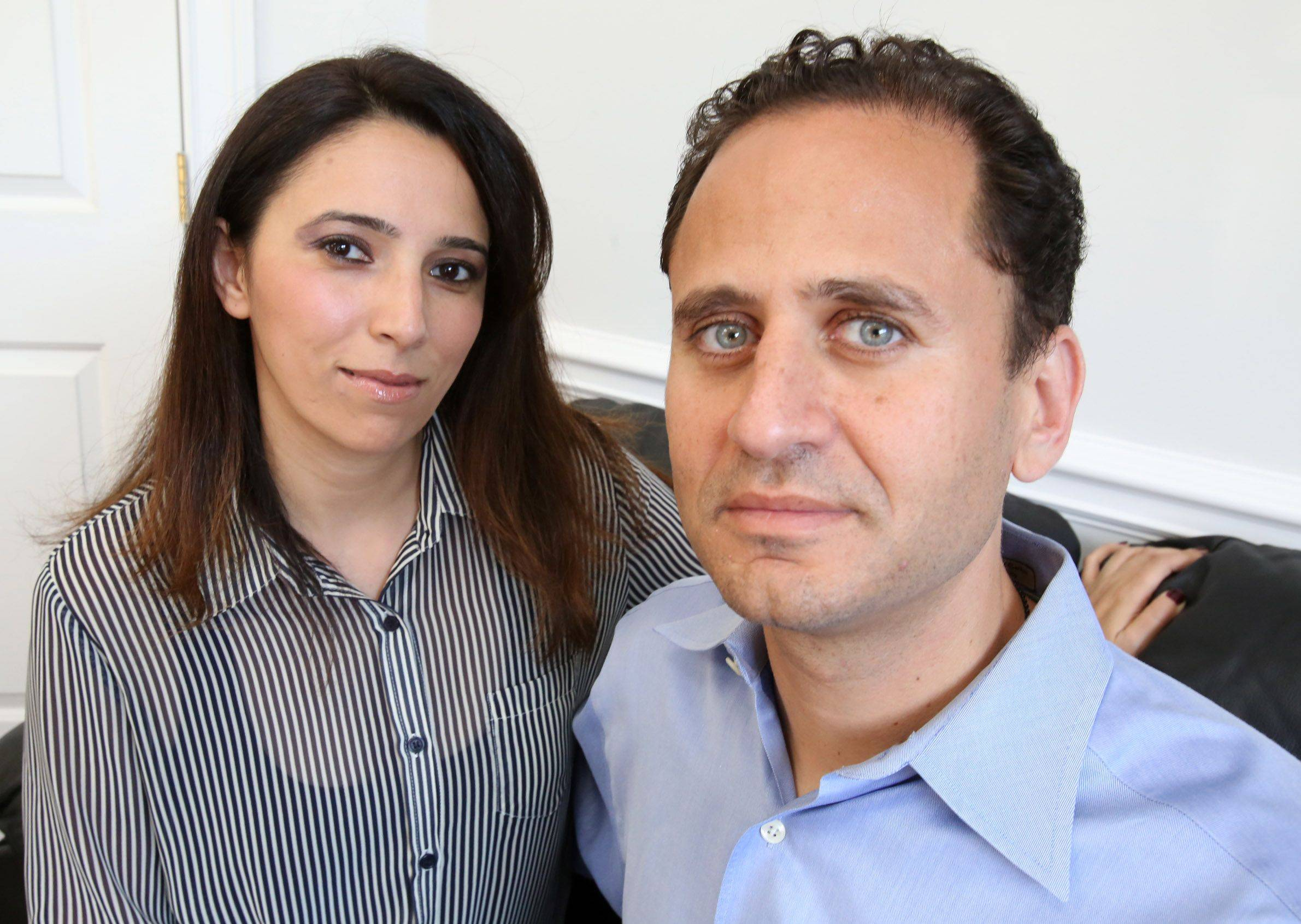 Lina and Aladean Attar, a Syrian-American couple from Lake Forest, talk about the humanitarian crisis in Syria and their fears for family members and countrymen.