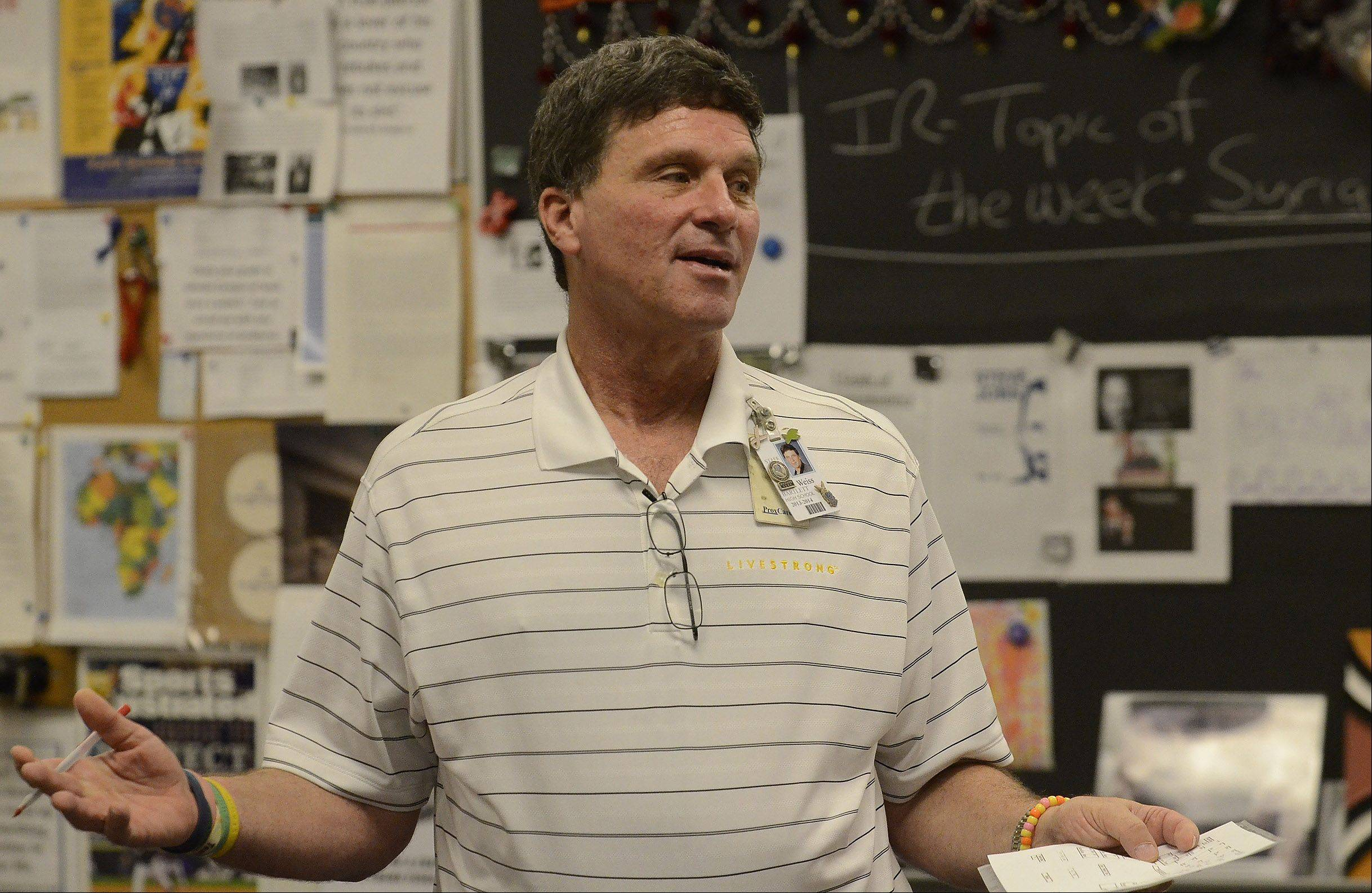 Bartlett High School students in teacher Brett Weiss' international relations classroom do more than passively take in the news of the world. Instead of being bystanders, some of the students have launched the Upstanders club, which gets involved in attempts to better difficult situations around the globe.