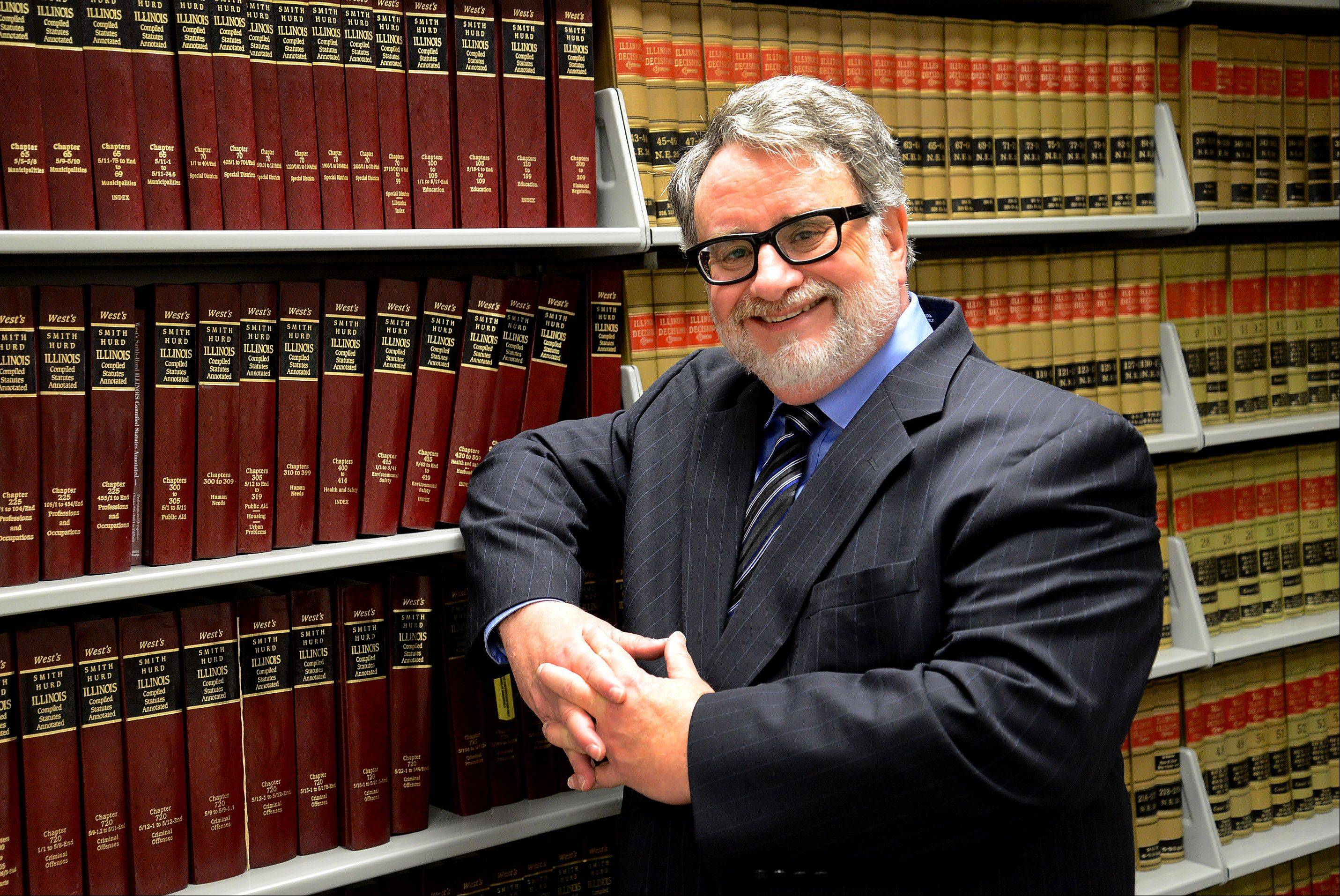 Cook County Assistant Public Defender Scott Slonim of Buffalo Grove is retiring after 30 years, most of them at the courthouse in Rolling Meadows.