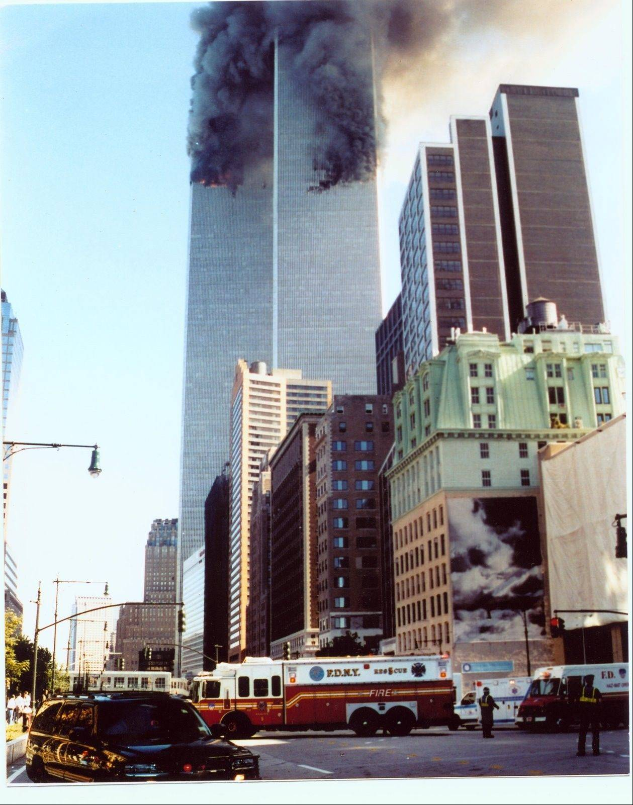 This photo shows Rescue 5 at the Sept. 11 World Trade Center attack in New York.